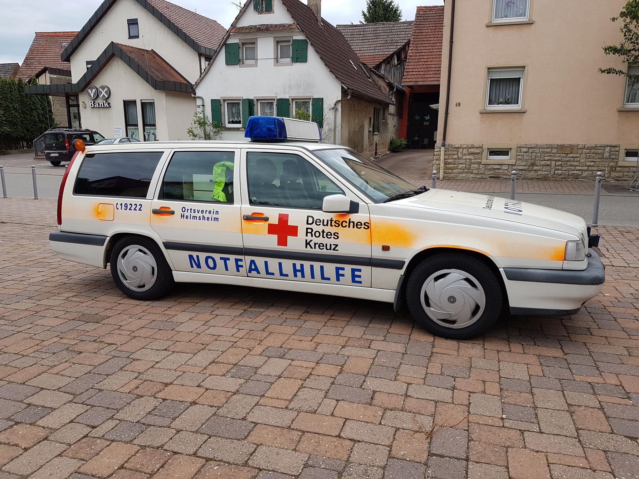 das Notfallhilfeauto ist in die Jahre gekommen