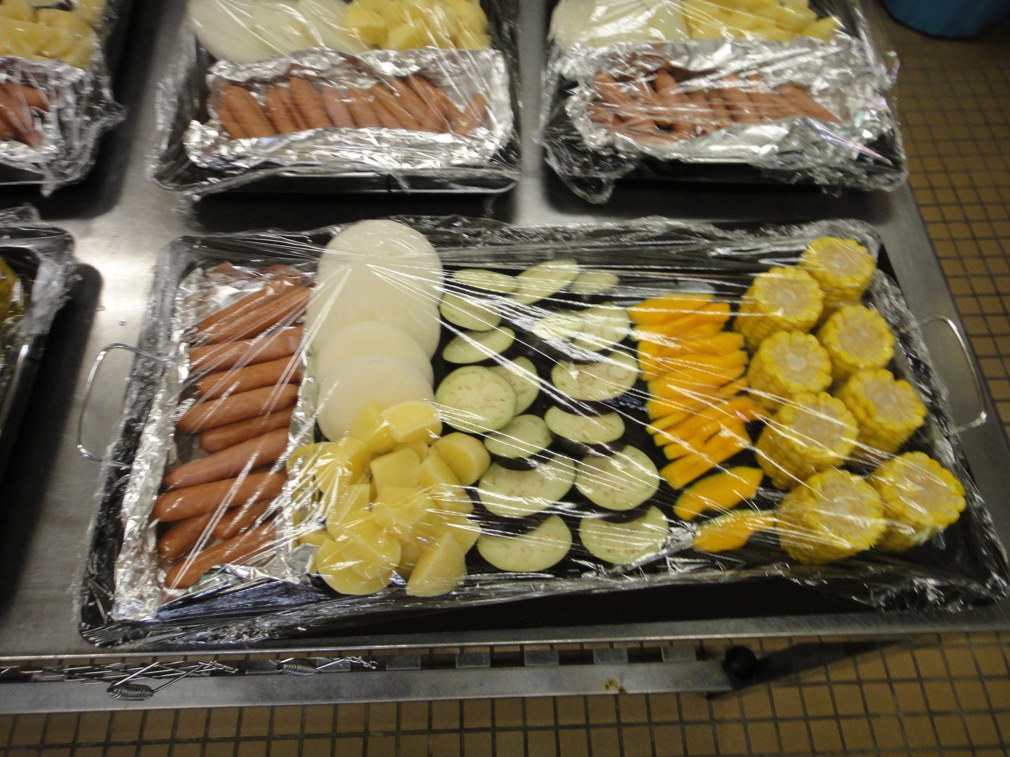 野菜も準備してもらいました。