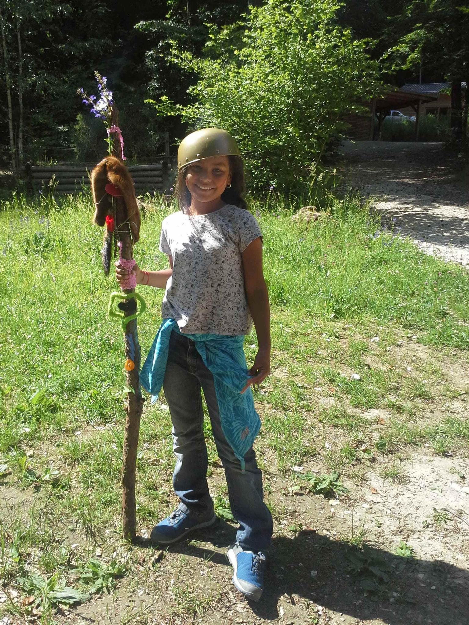 Mutige Gallierin im Walderlebniszentrum