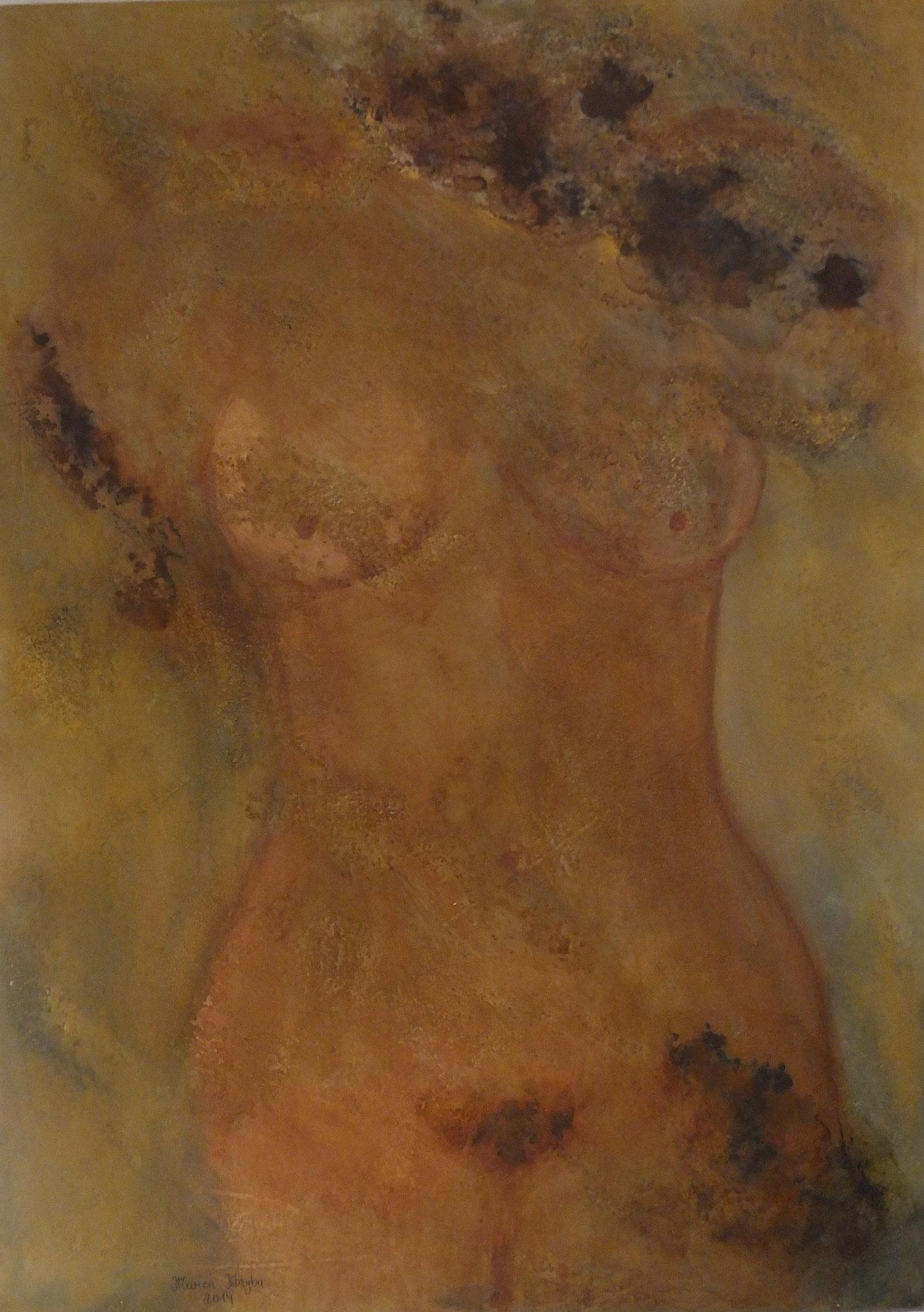 Torso femminile I 80 x 60 x 4 cm