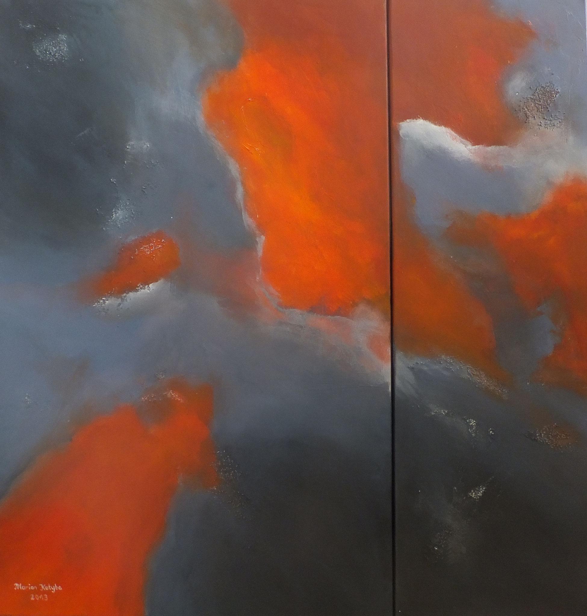 Illusione II 90 x 90 x 2 cm 2-teiliges Werk