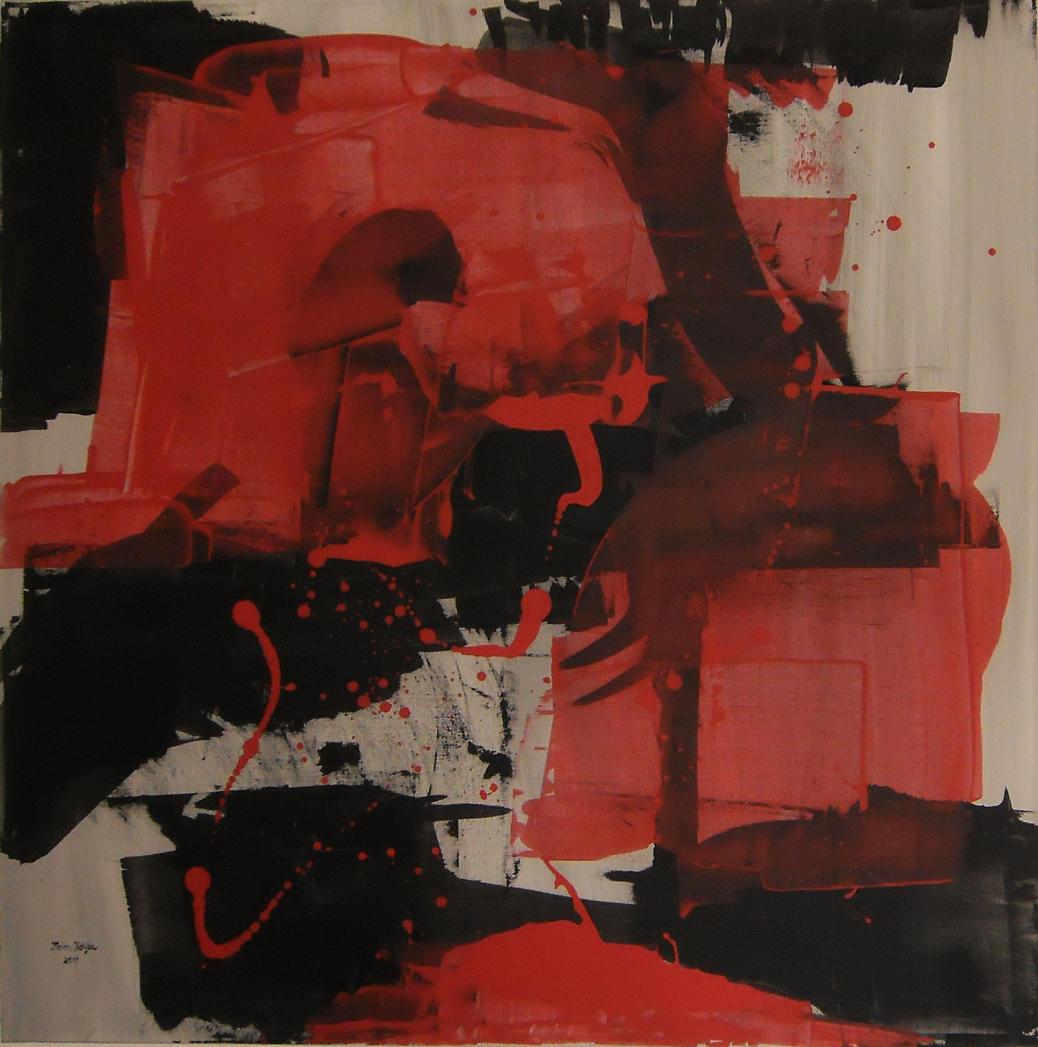 Rosso Nero 100 x 100 x 2 cm