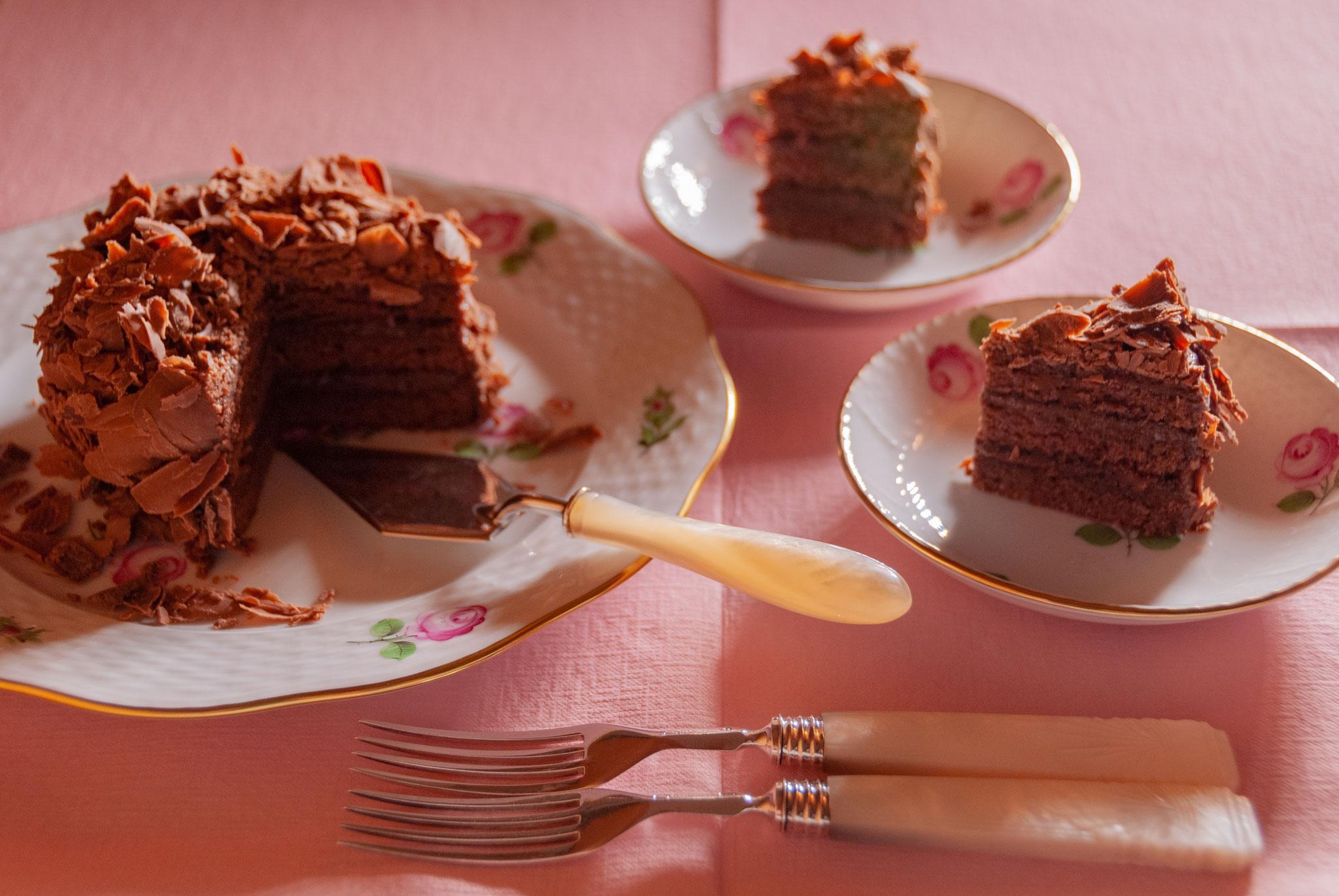 Chocolate cake, φ3.5 inches (φ9 cm), Fleur*Fleur*