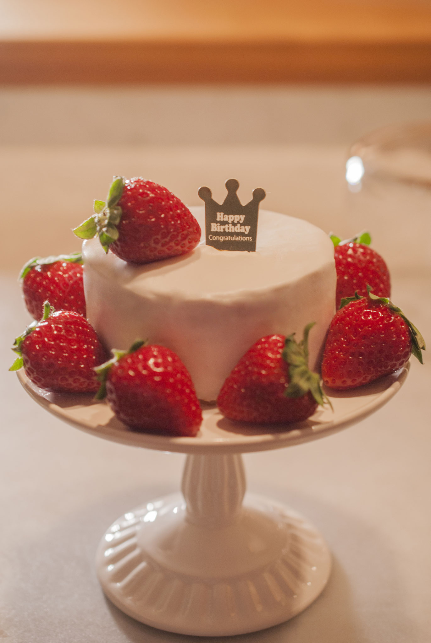 φ9cm Birthday strawberry shortcake, Fleur*Fleur*