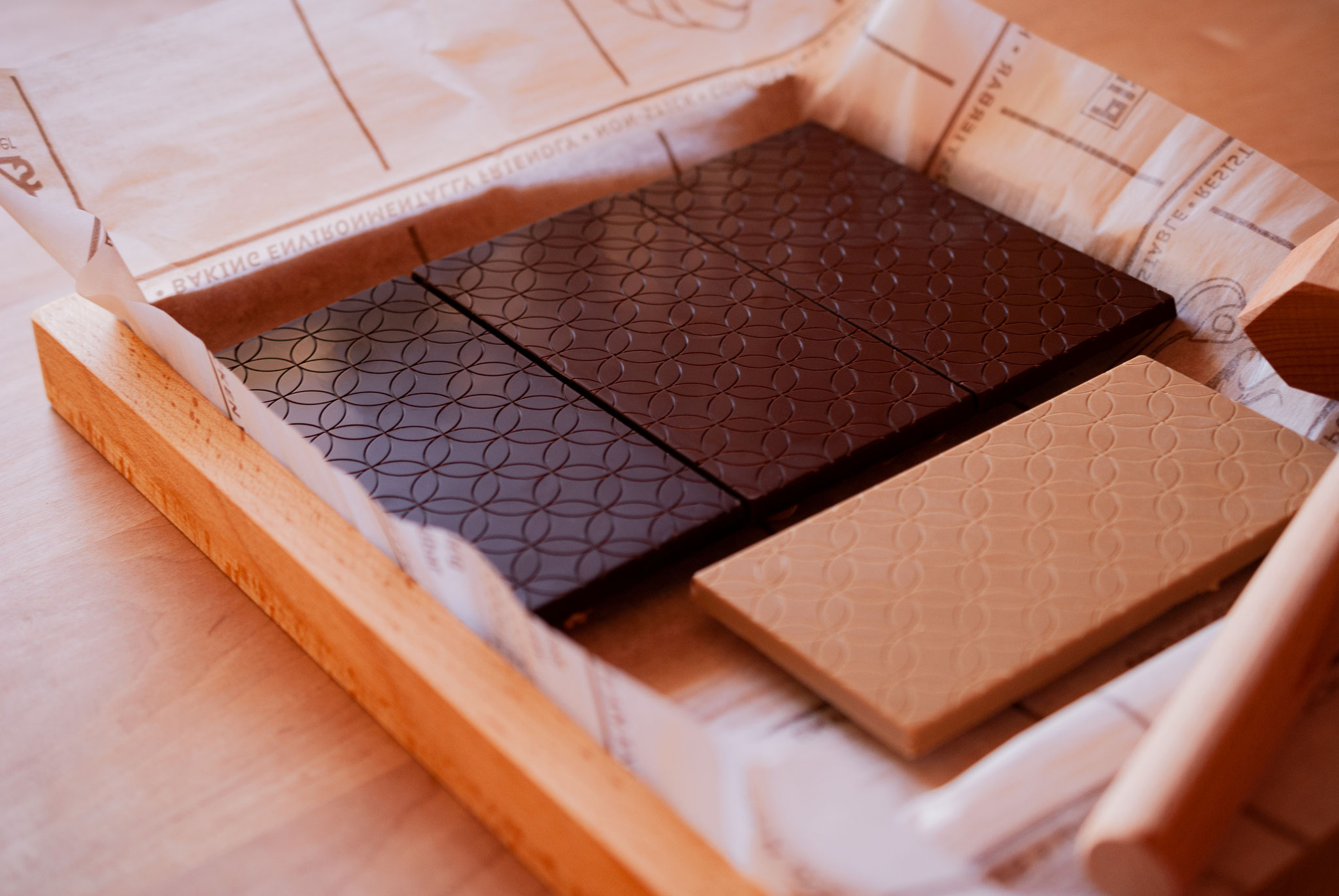 """Chocolate Tablets -- with wooden base from """"Le Chocolat Alain Ducasse"""" -- , Fleur*Fleur*"""