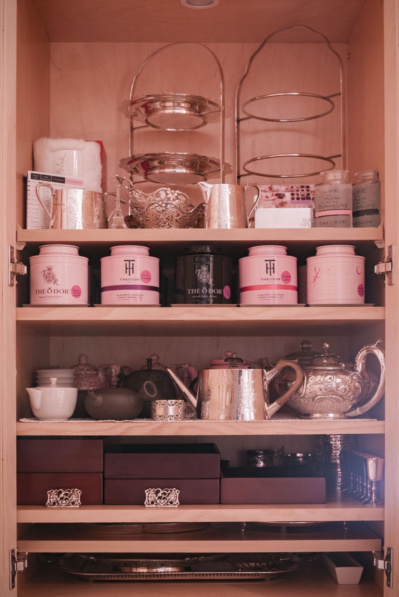 Tea cabinet A, B, stock lists, Fleur*Fleur*