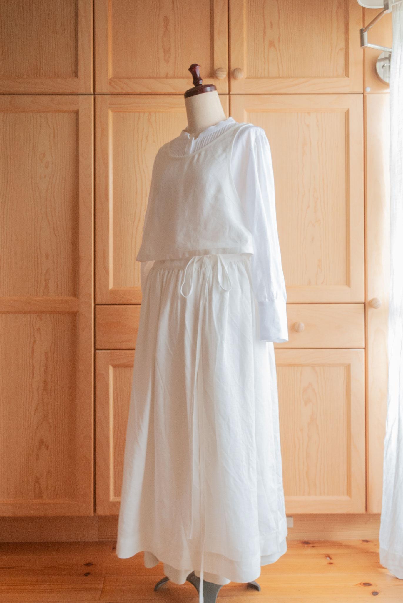 apron dress set B (#004 + #006) for sweets, Fleur*Fleur*