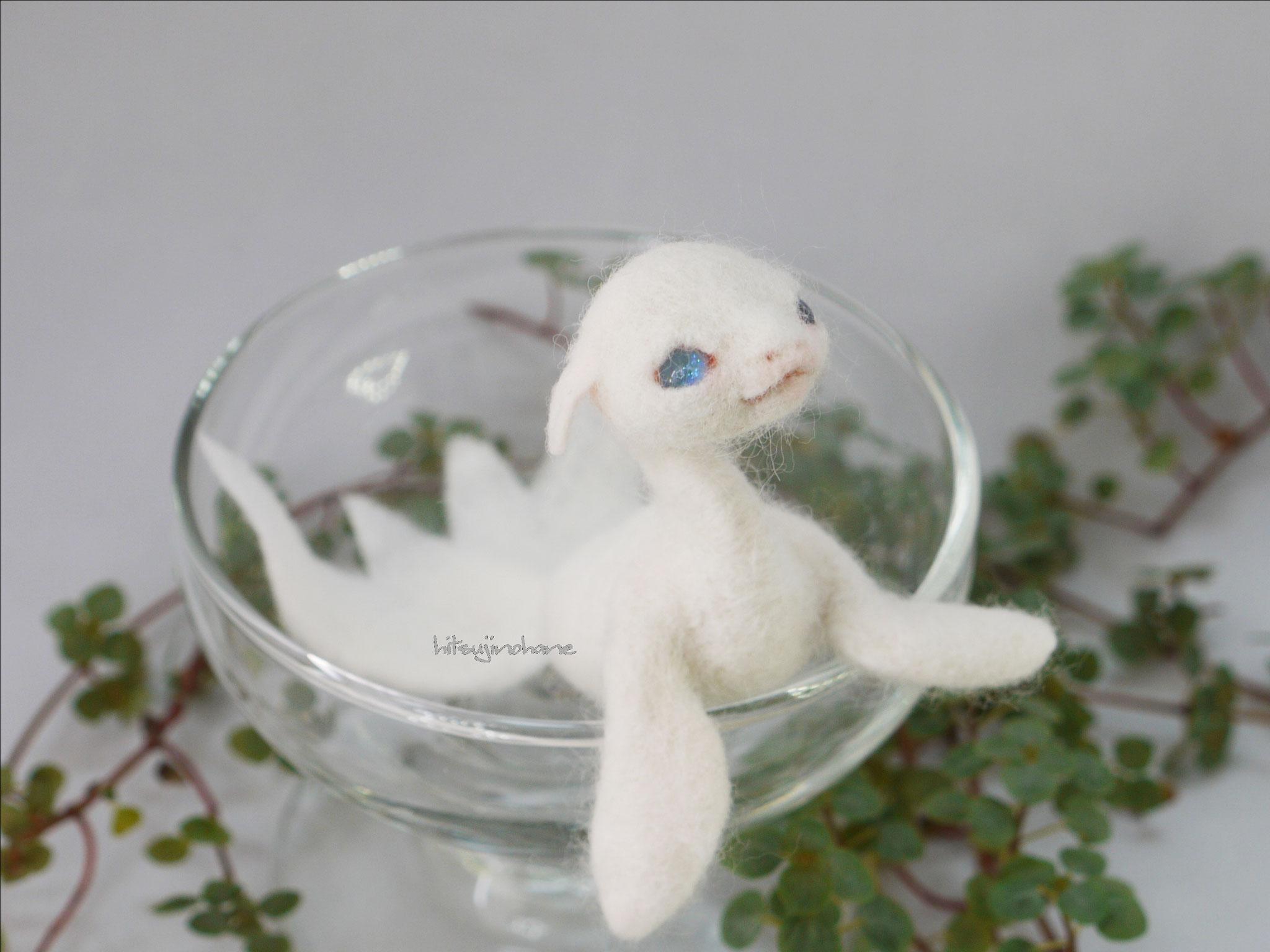 真っ白な金魚竜