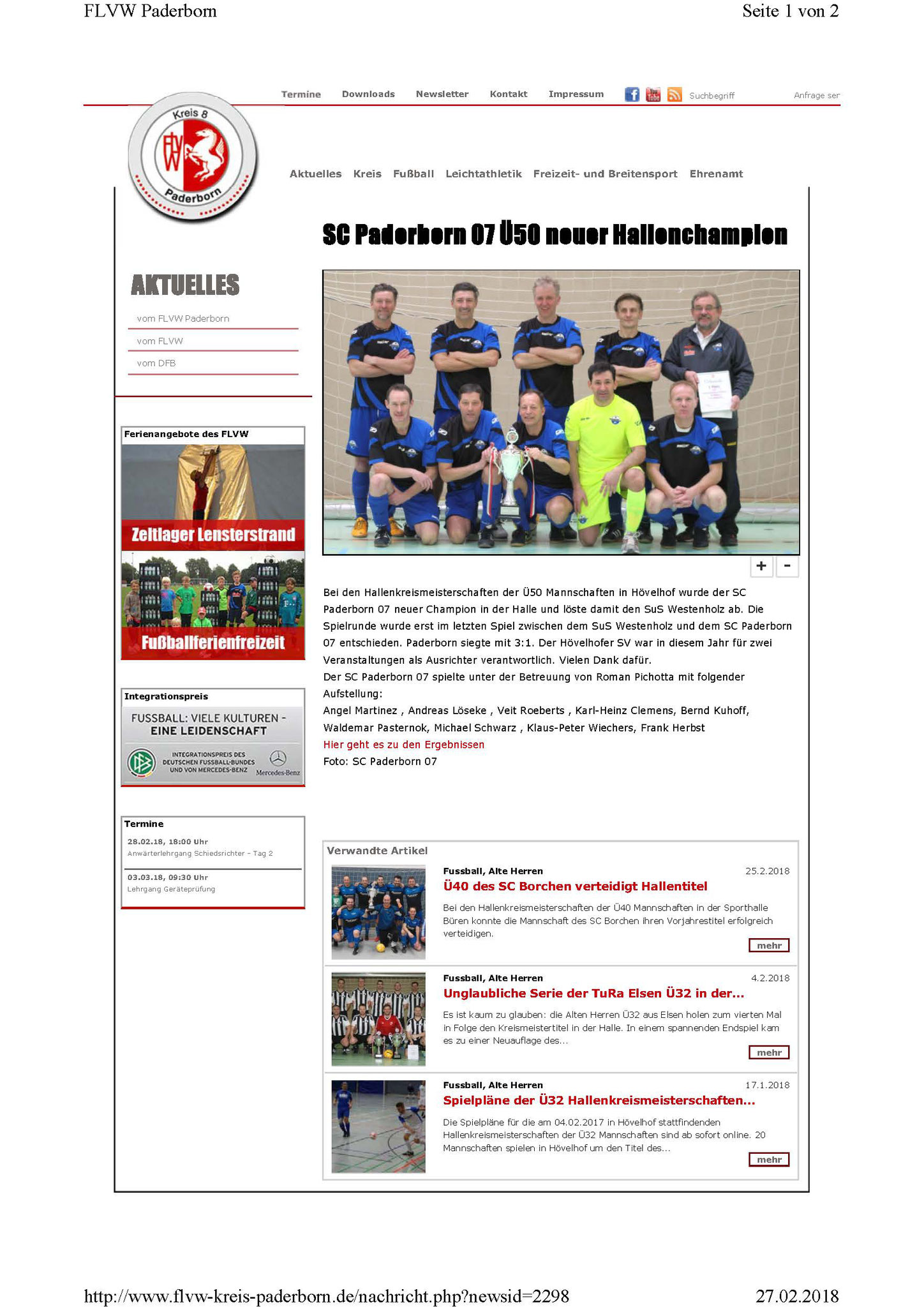 Quelle: Website FLVW Paderborn
