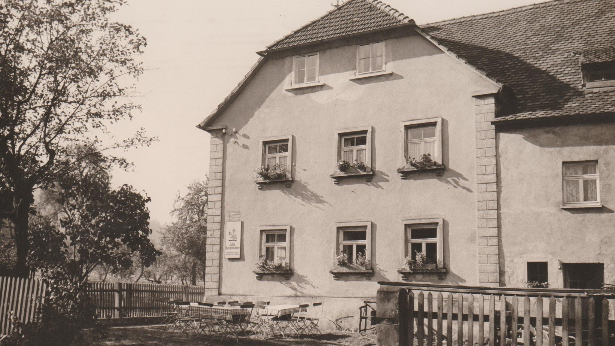 Der Landgasthof Bieger in Rothenbühl 1955.