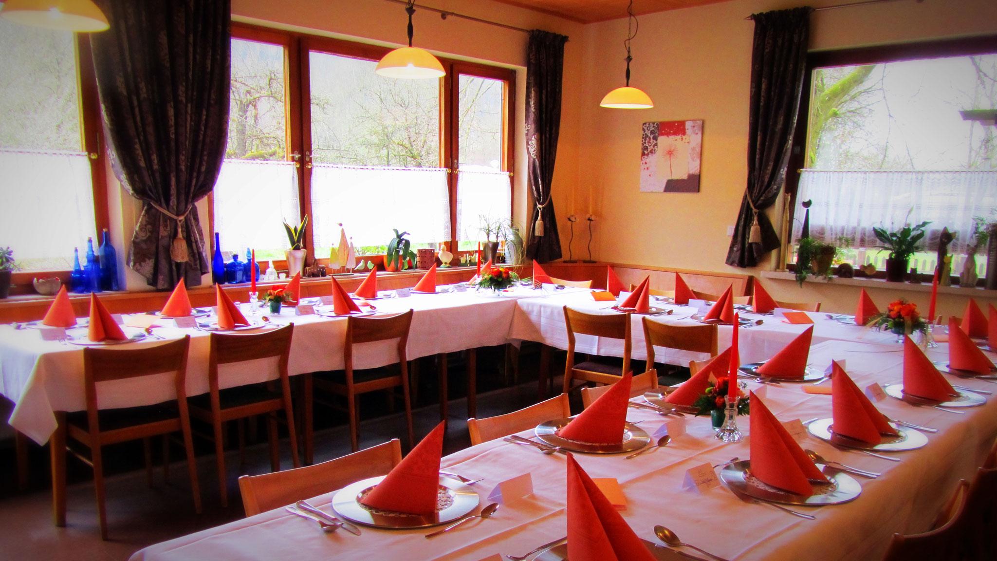Unser Nebenraum für jede Feierlichkeit im Landgasthof Bieger Ebermannstadt.