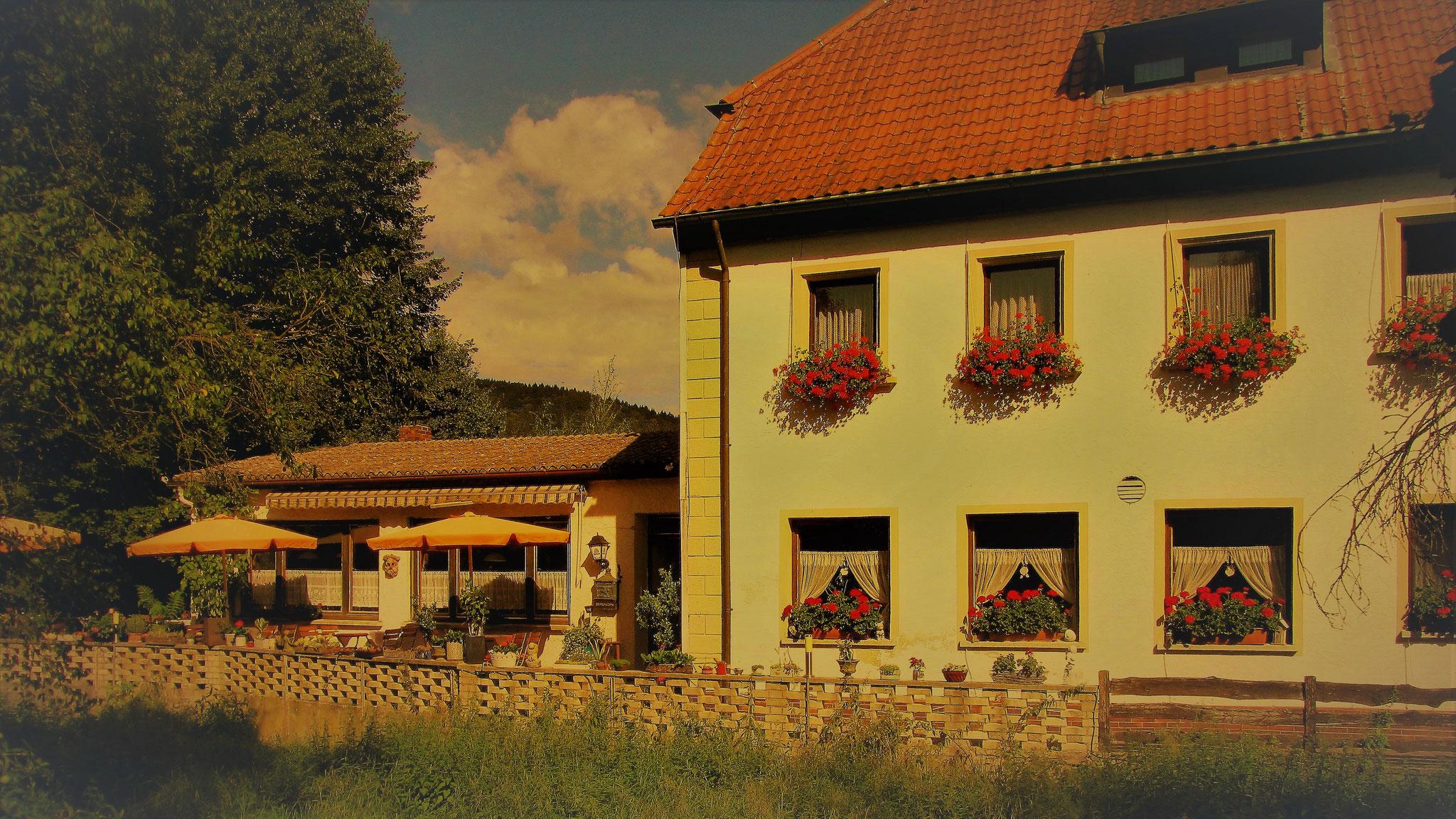 Landgasthof Bieger in der Fränkischen Schweiz, 2 km von Ebermannstadt.