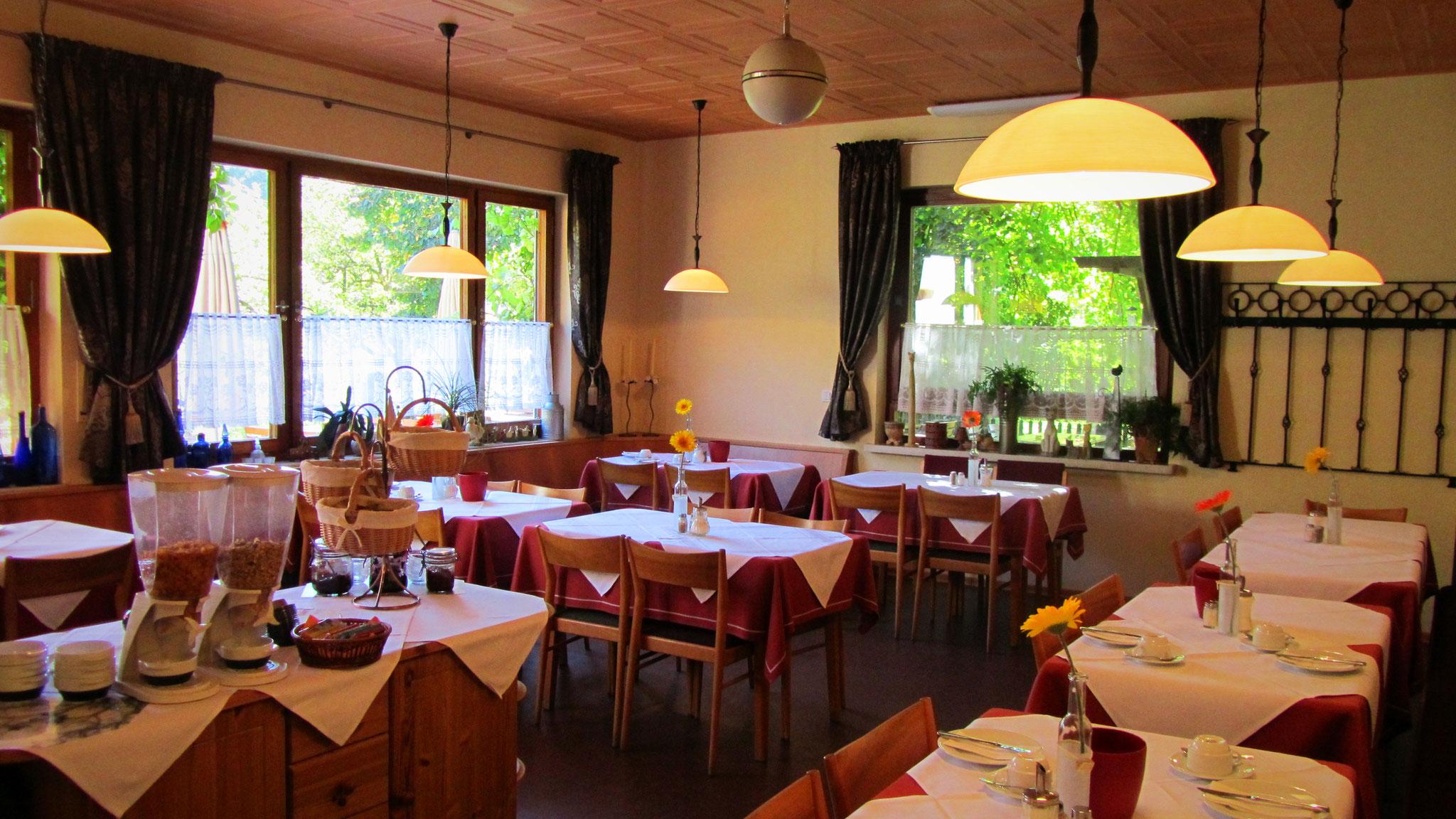 Unser heller Frühstücksraum im Landgasthof Bieger - Ebermannstadt
