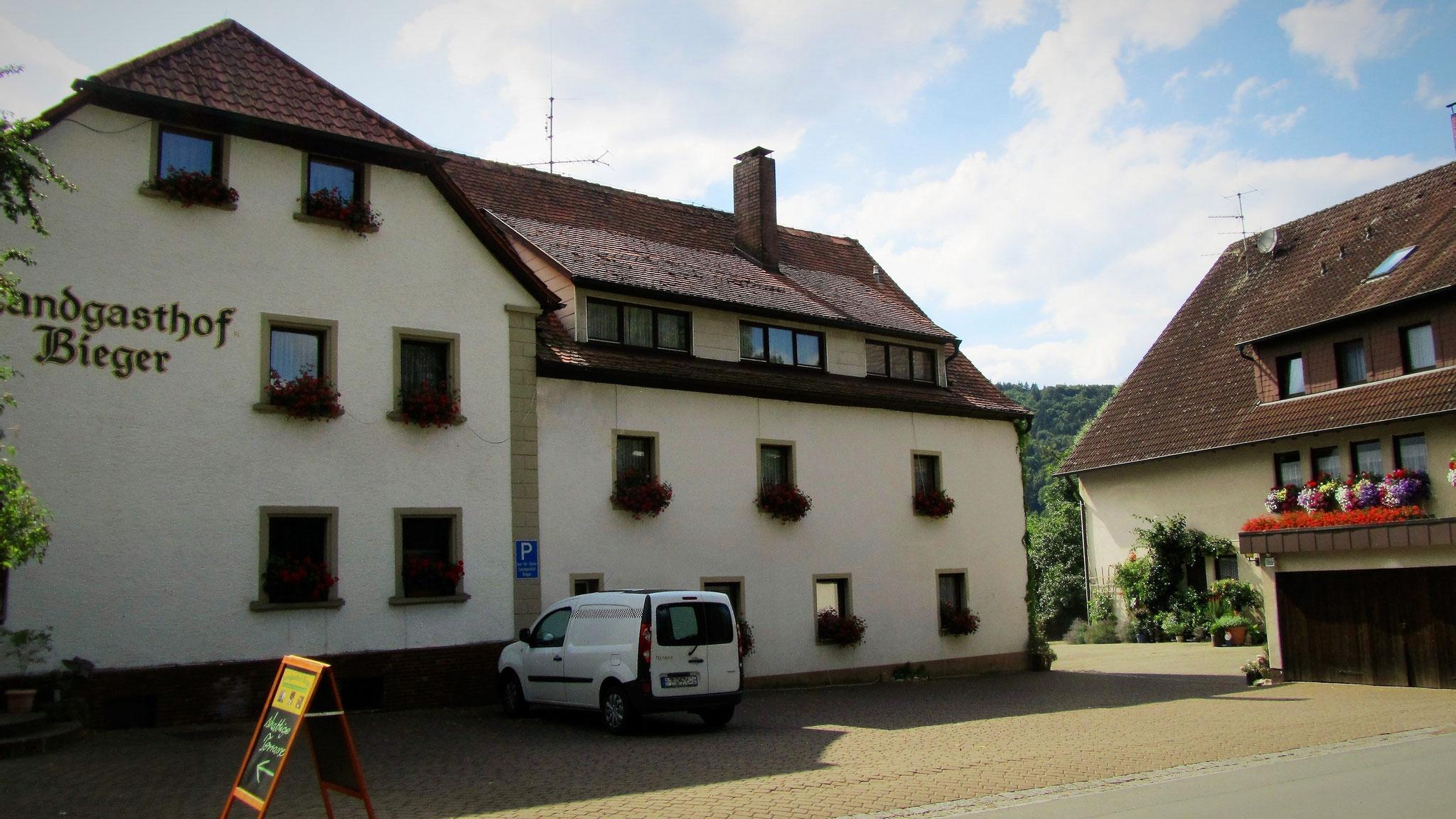 Der Landgasthof Bieger in der Fränkischen Schweiz, 2 km von Ebermannstadt.