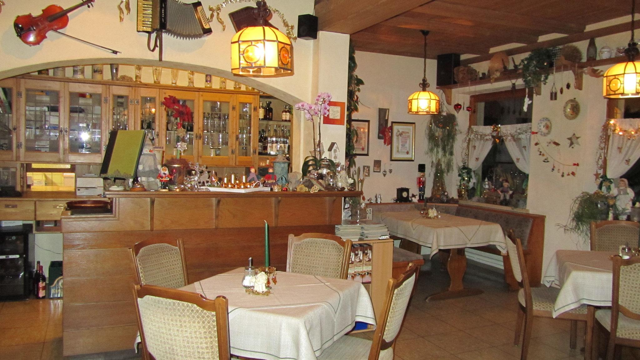 Unsere gemütliche Gaststube im Landgasthof Bieger Ebermannstadt.