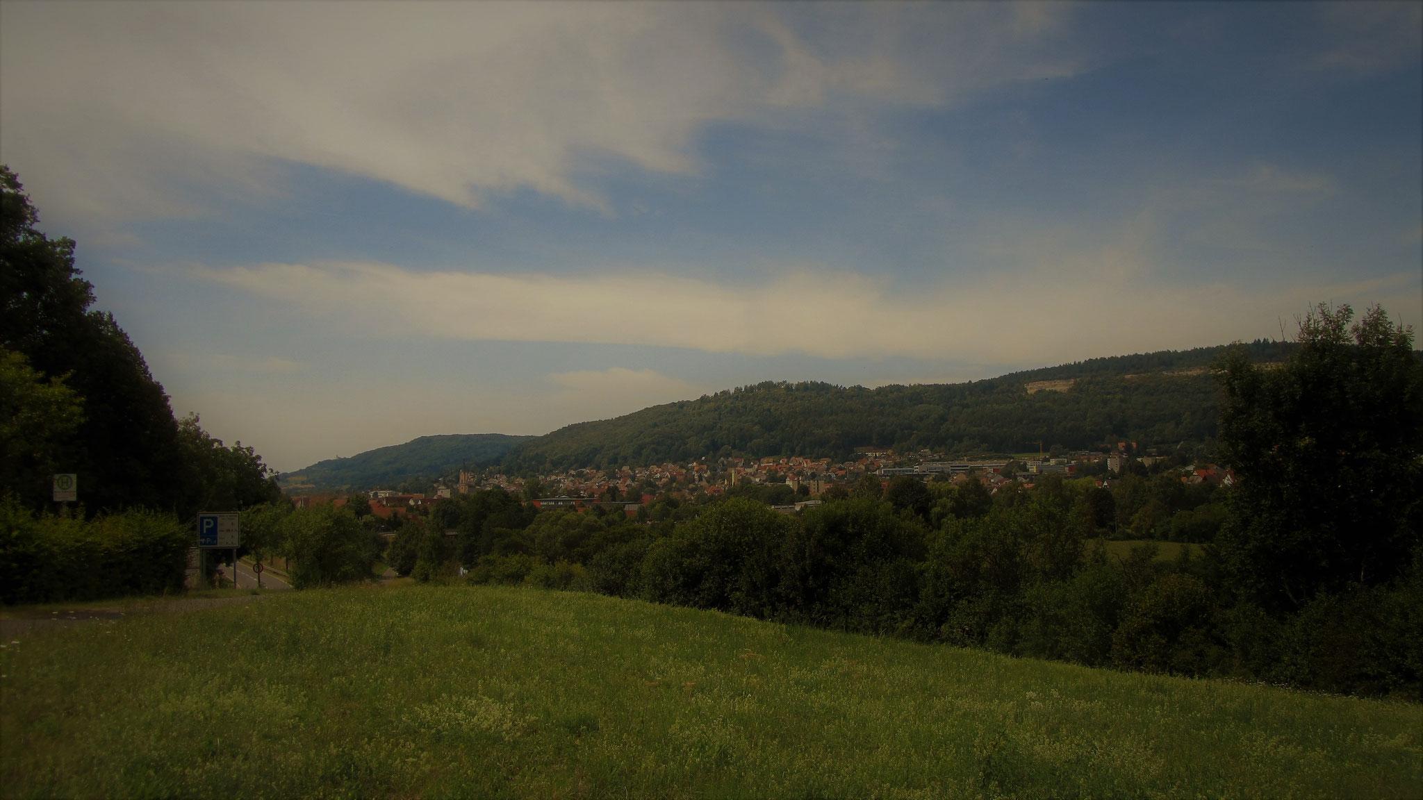 Die Kleinstadt Ebermannstadt in der Fränkischen Schweiz. 2km vom Landgasthof Bieger entfernt.