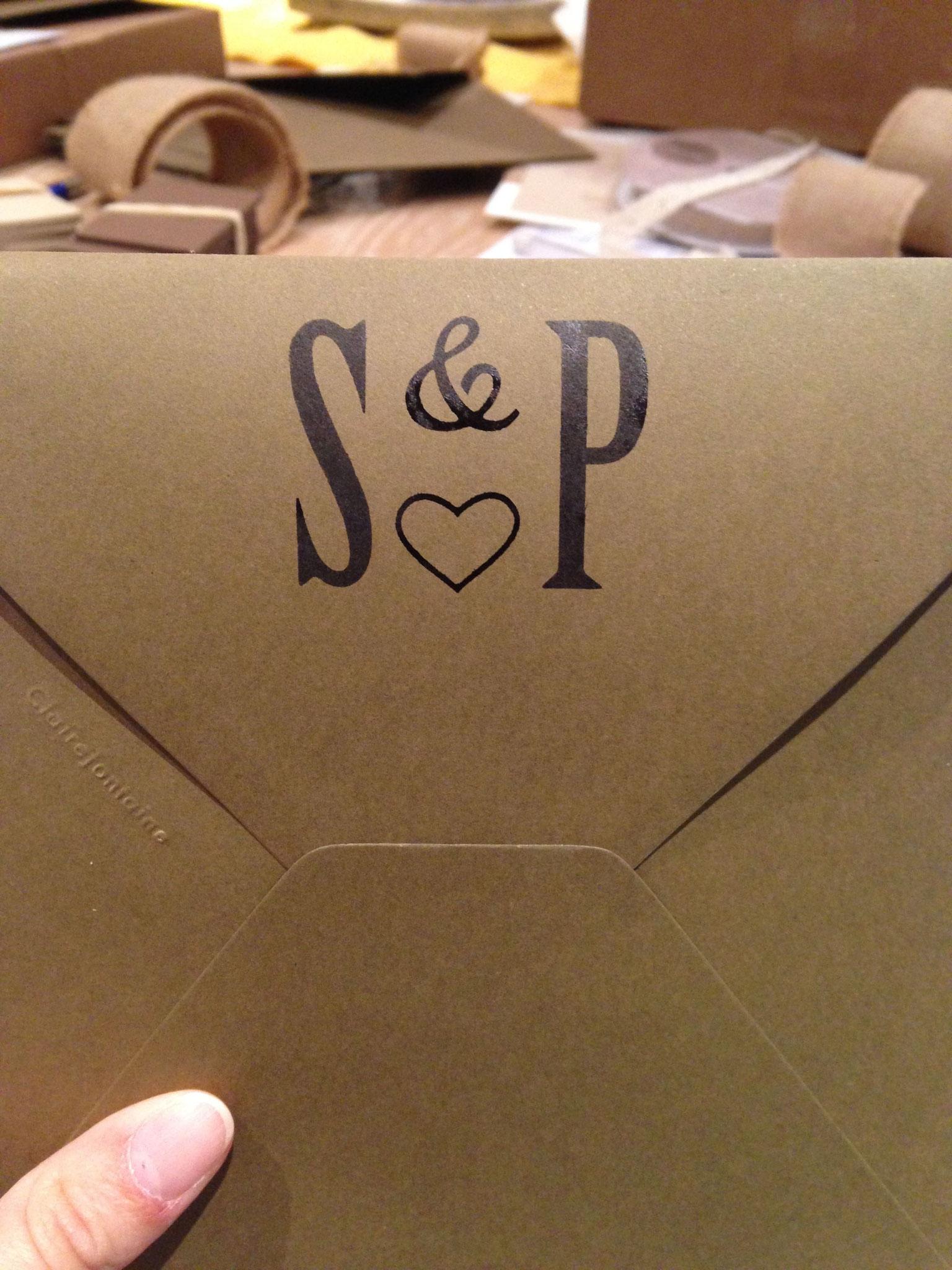 Tampon sur enveloppe