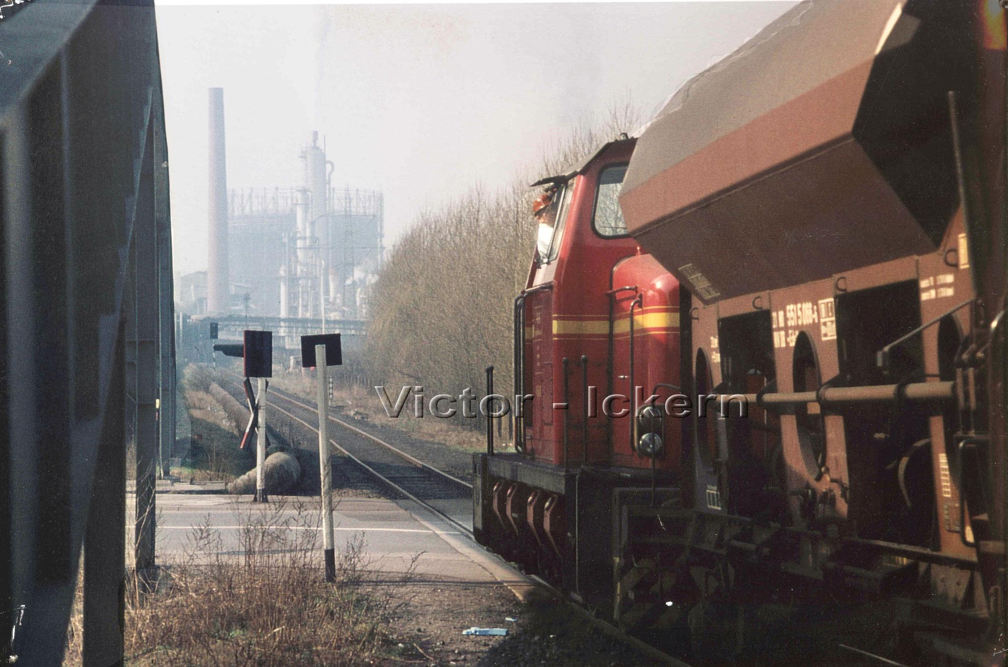 Bahnübergang Vinckestrasse mit Grossbandanlage   1972