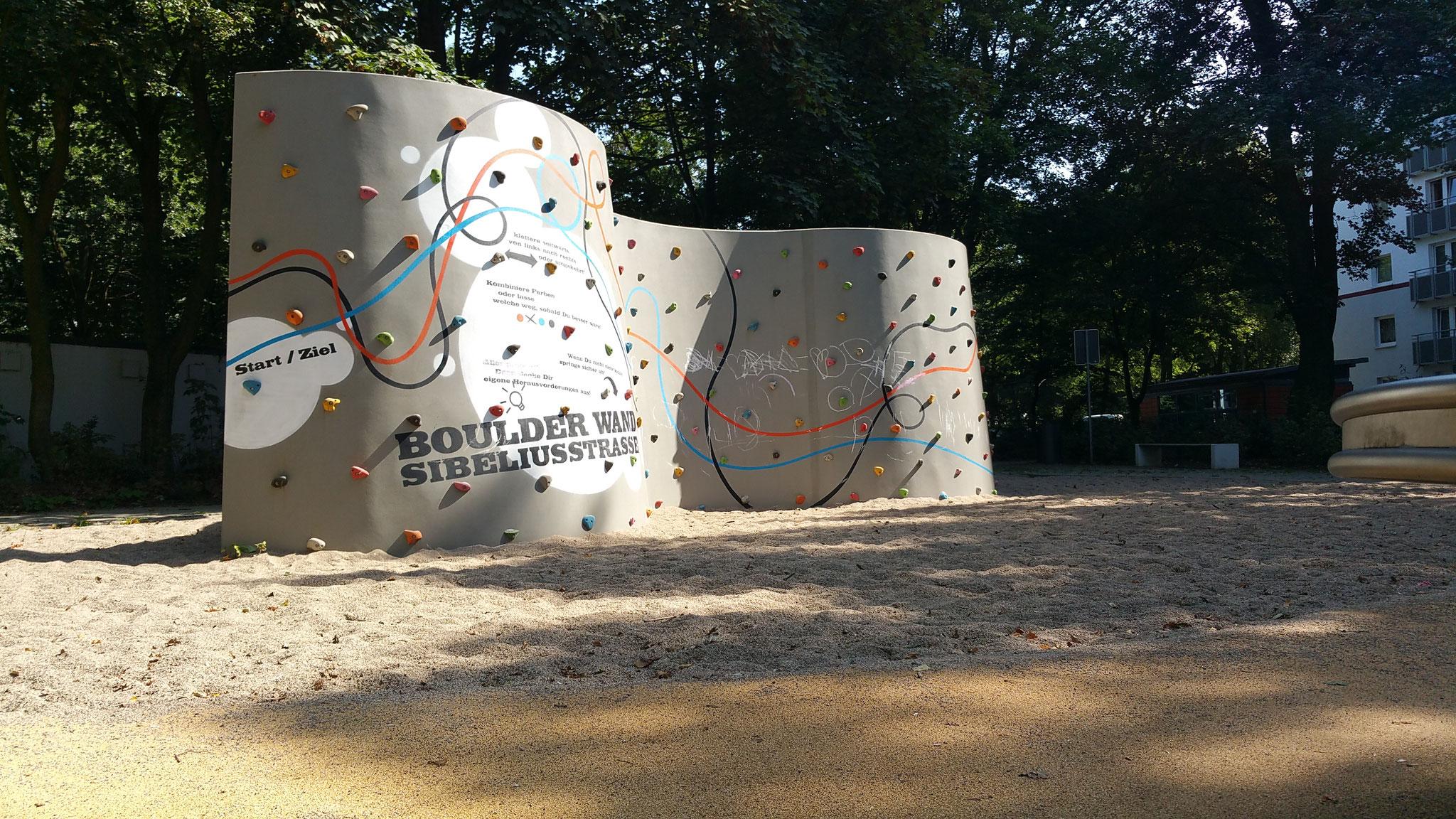 Concrete Boulderwand UP & Down, Hamburg, Sibeliusstr.