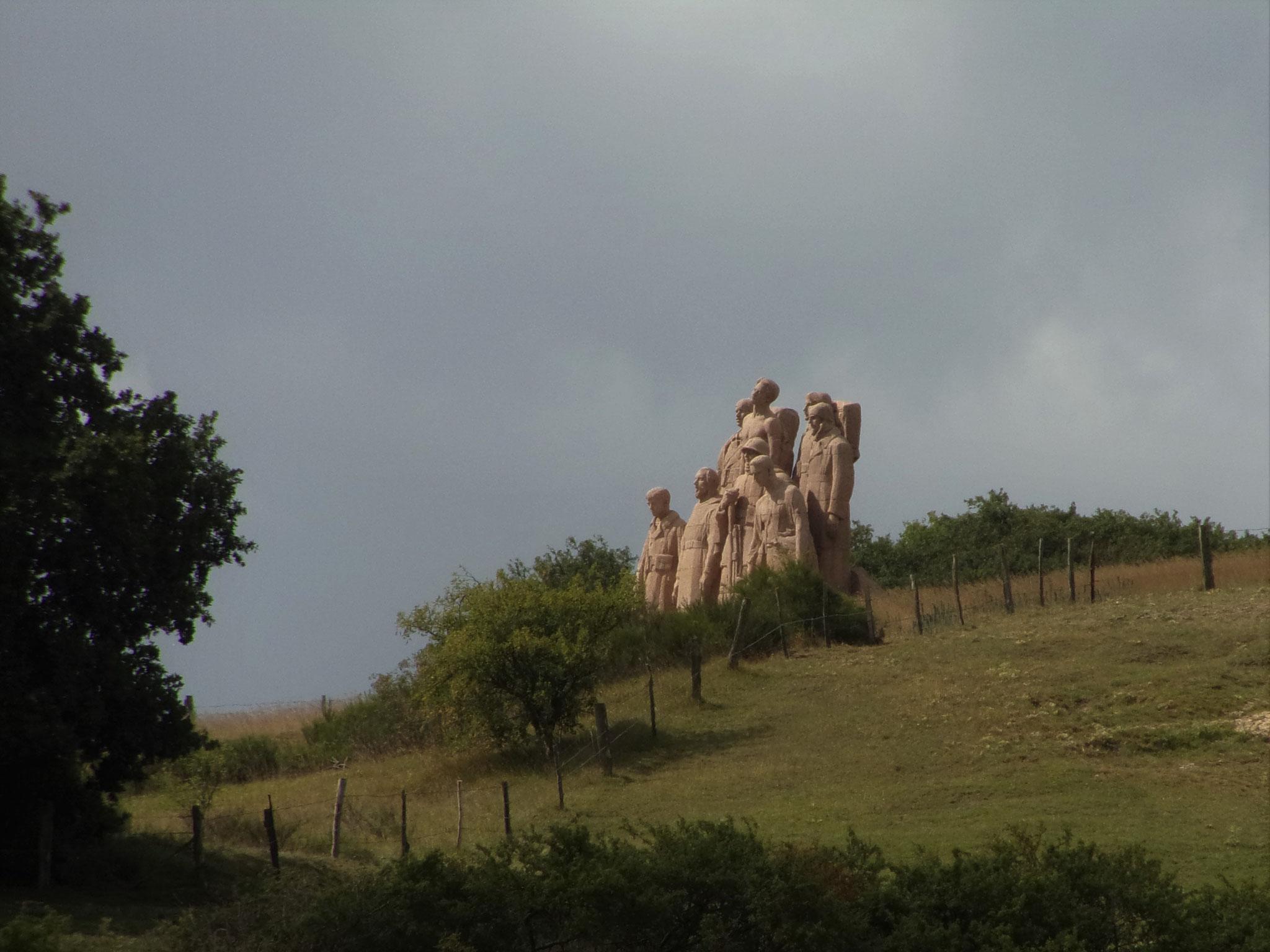Vue sur le monument des fantômes