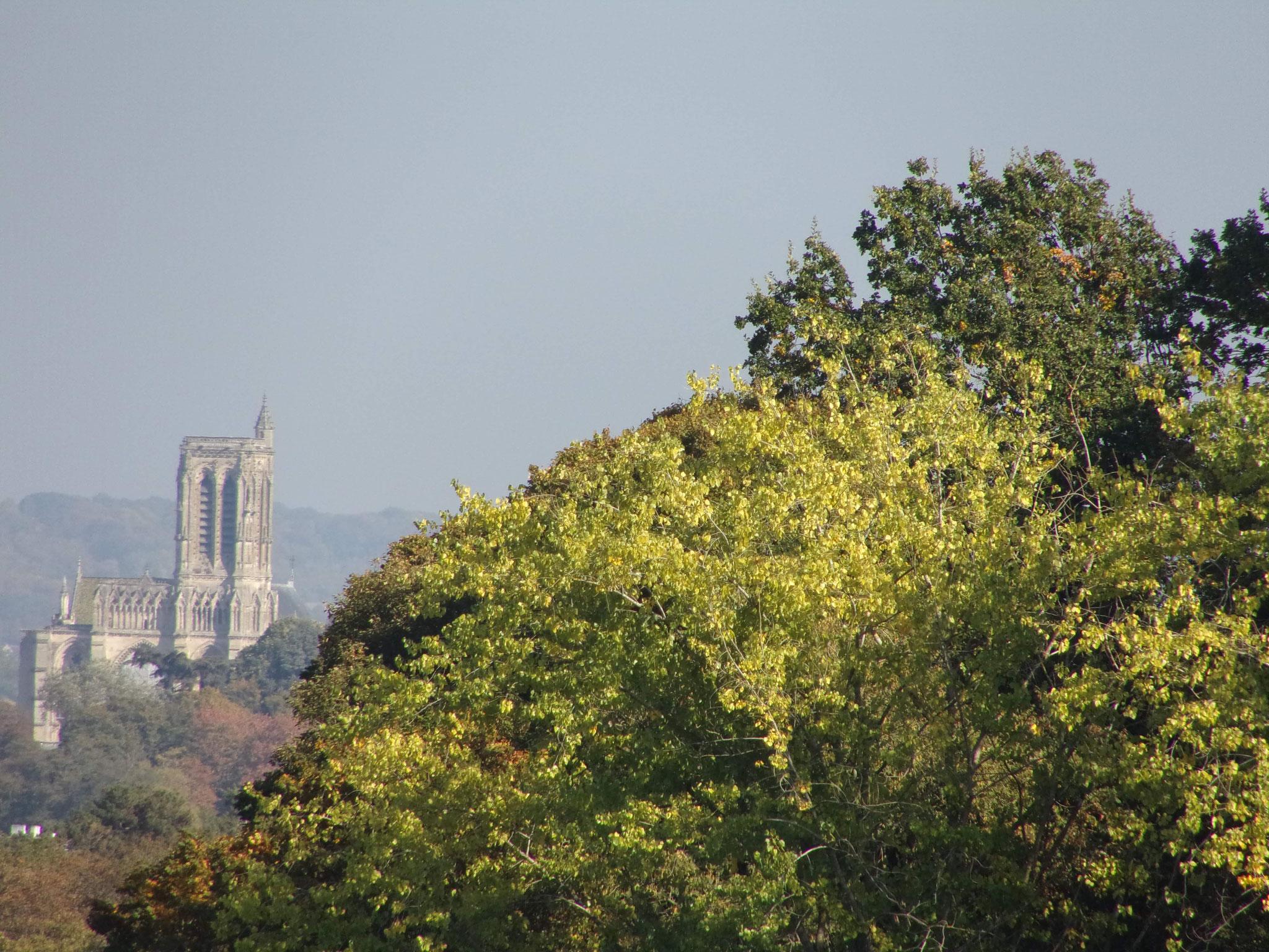 Vue sur la cathédrale de Soissons