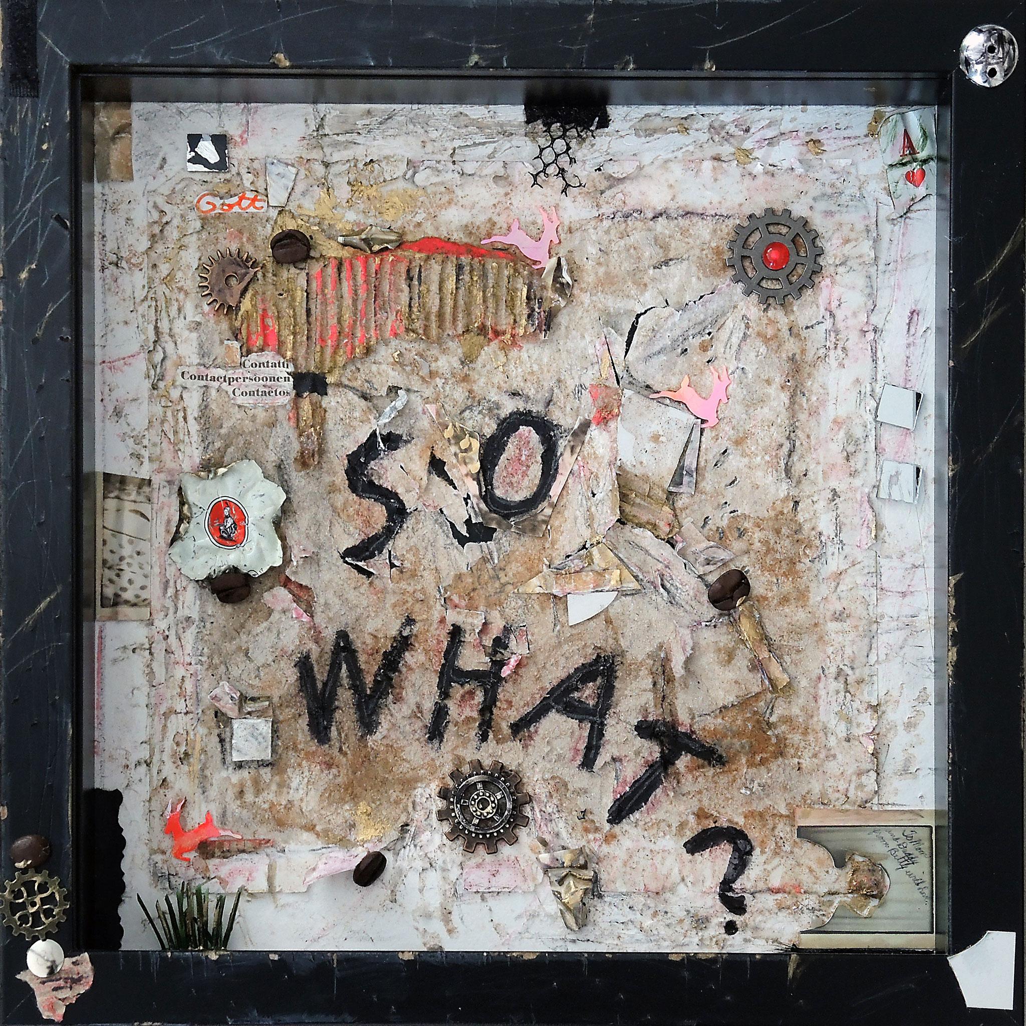 SO WHAT?!   (25x25x4,5 cm)