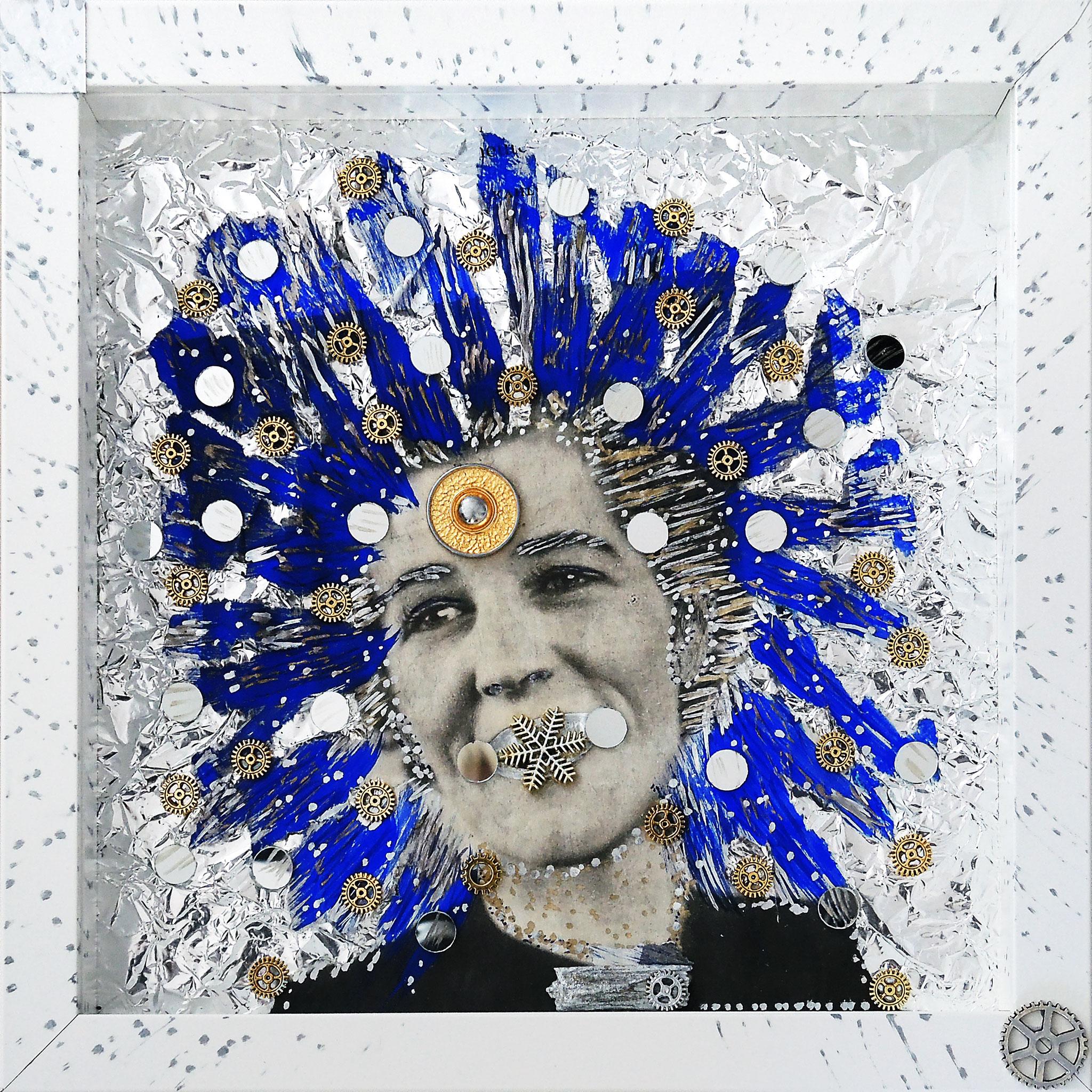 Lady Blue GAGA   (25x25x4,5 cm)