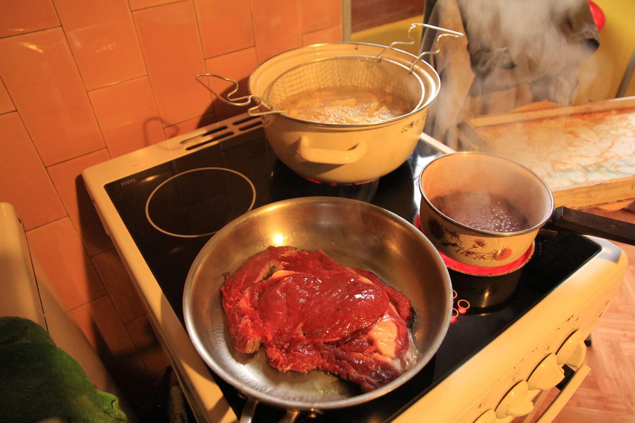 préparation entrecôte sauce échalote frites