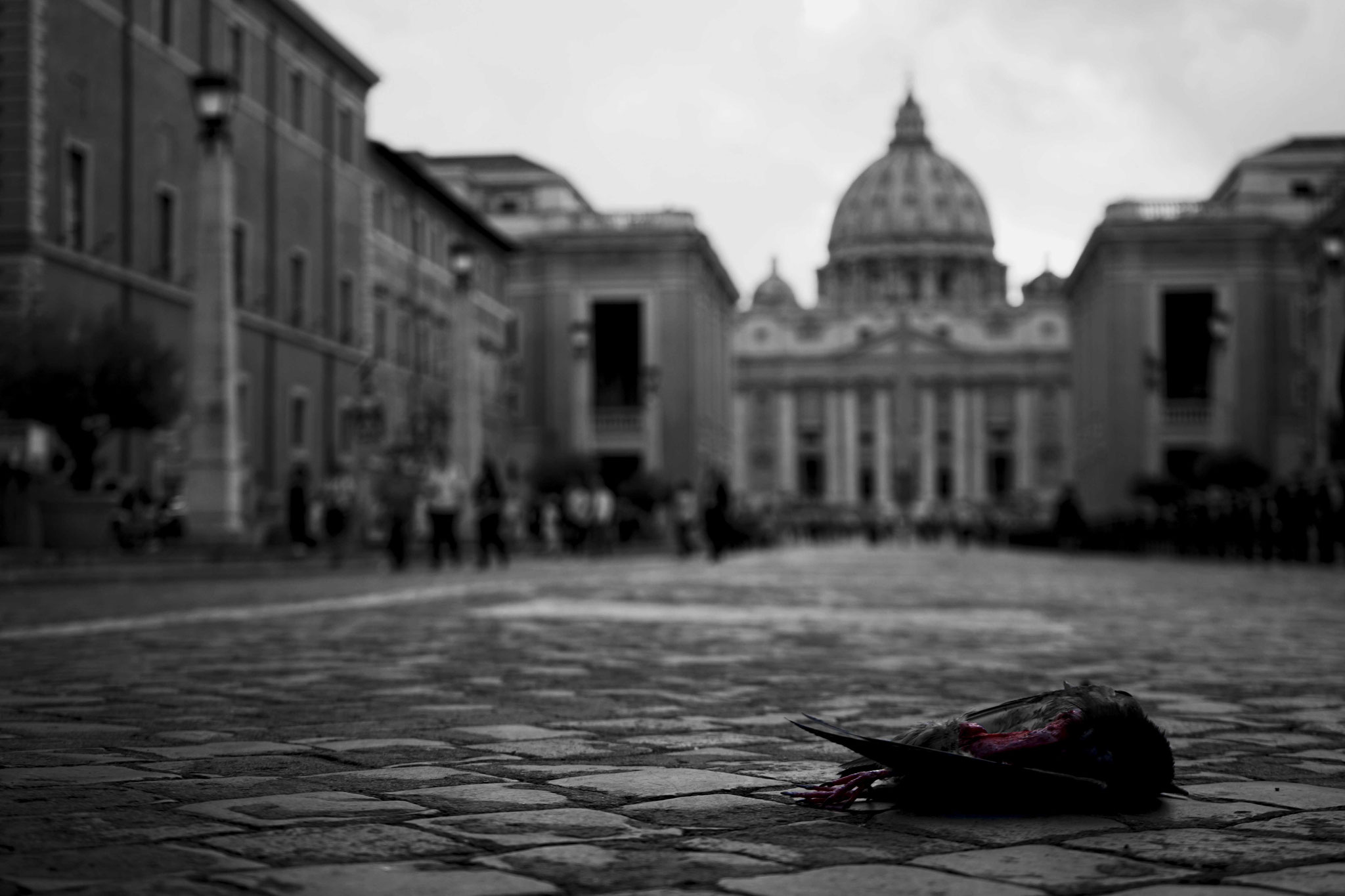 Death at the Vatican. While on a tour of Italy with Tankus the Henge I received several stares of disgust while taking this photograph. I will never resist telling a story with my camera. June 2016