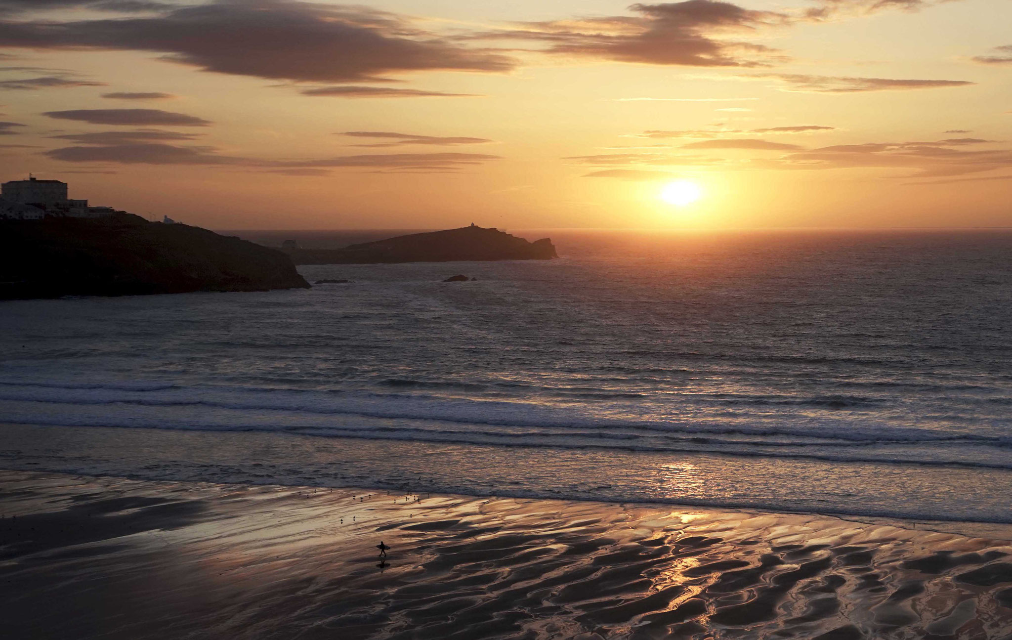 The sun setting in my home town of Newquay. First outing with my Sony A7. June 2016