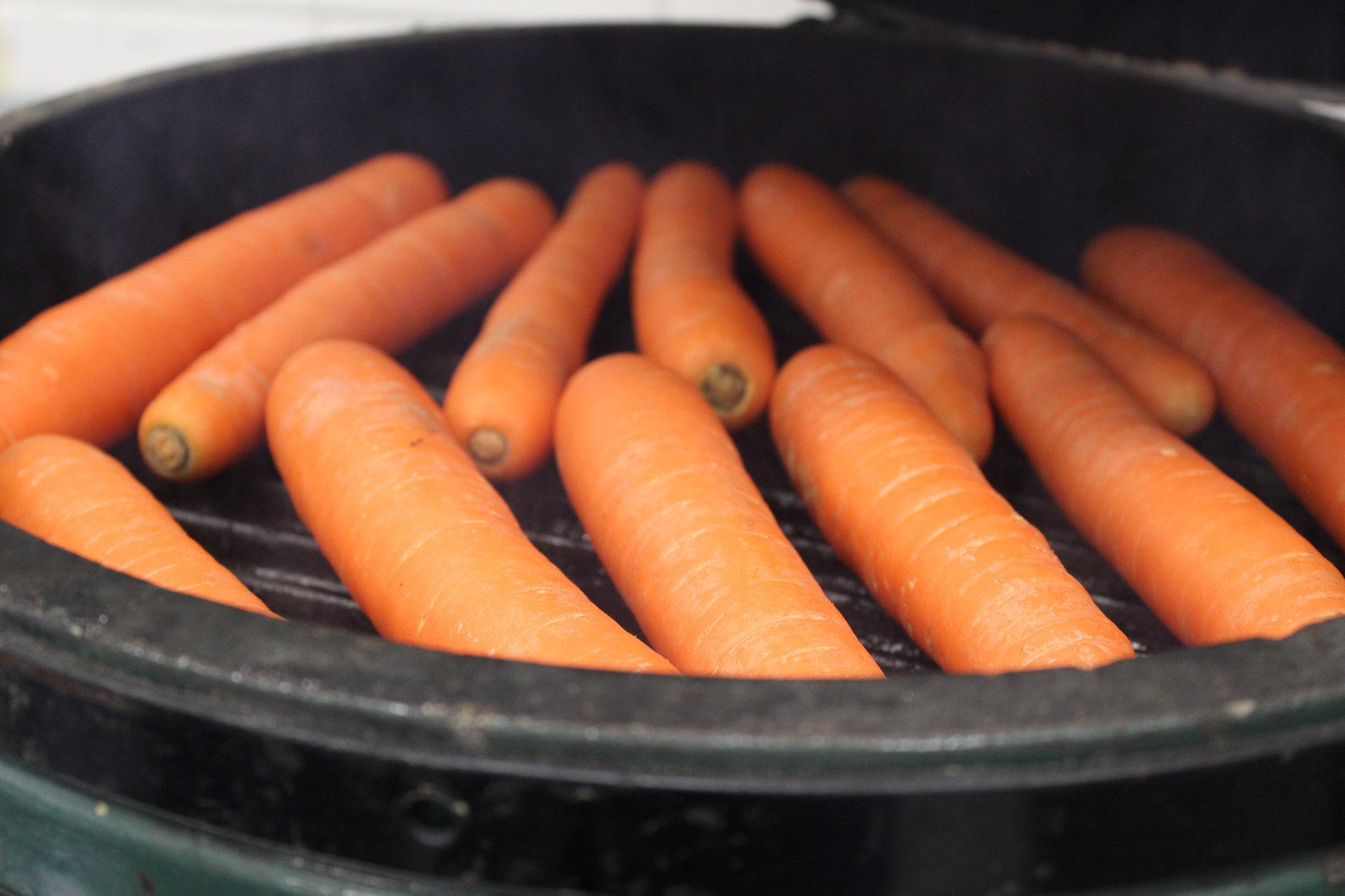 Karotten gegrillt für Tatar