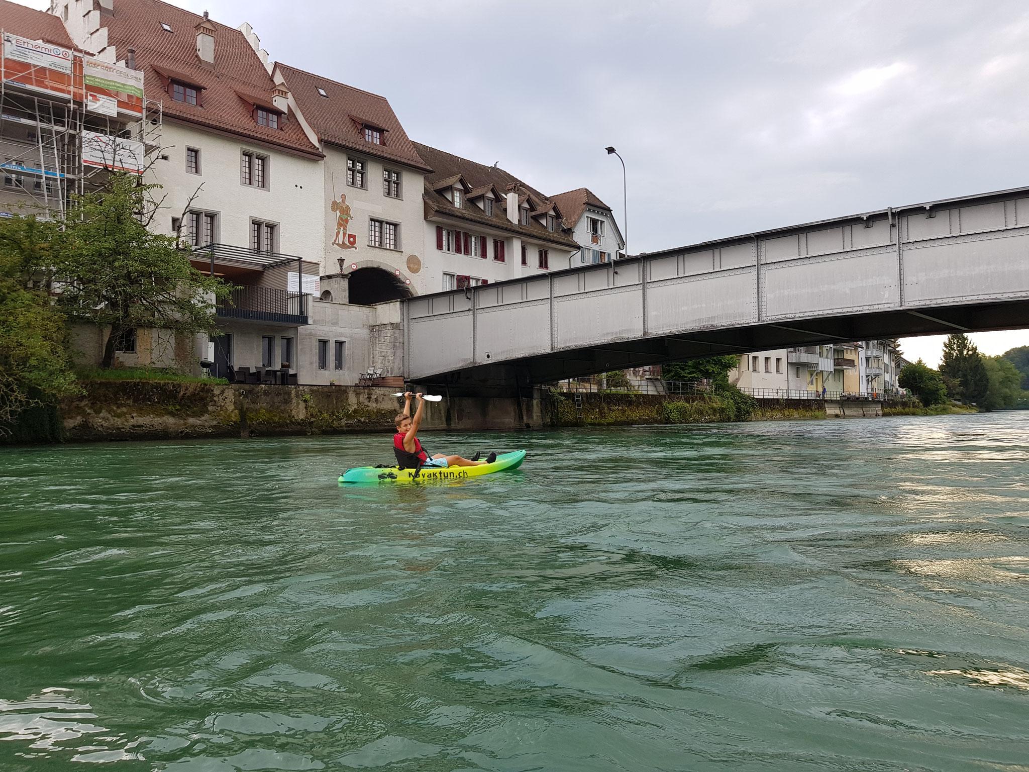 Stahlbrücke bei Mellingen