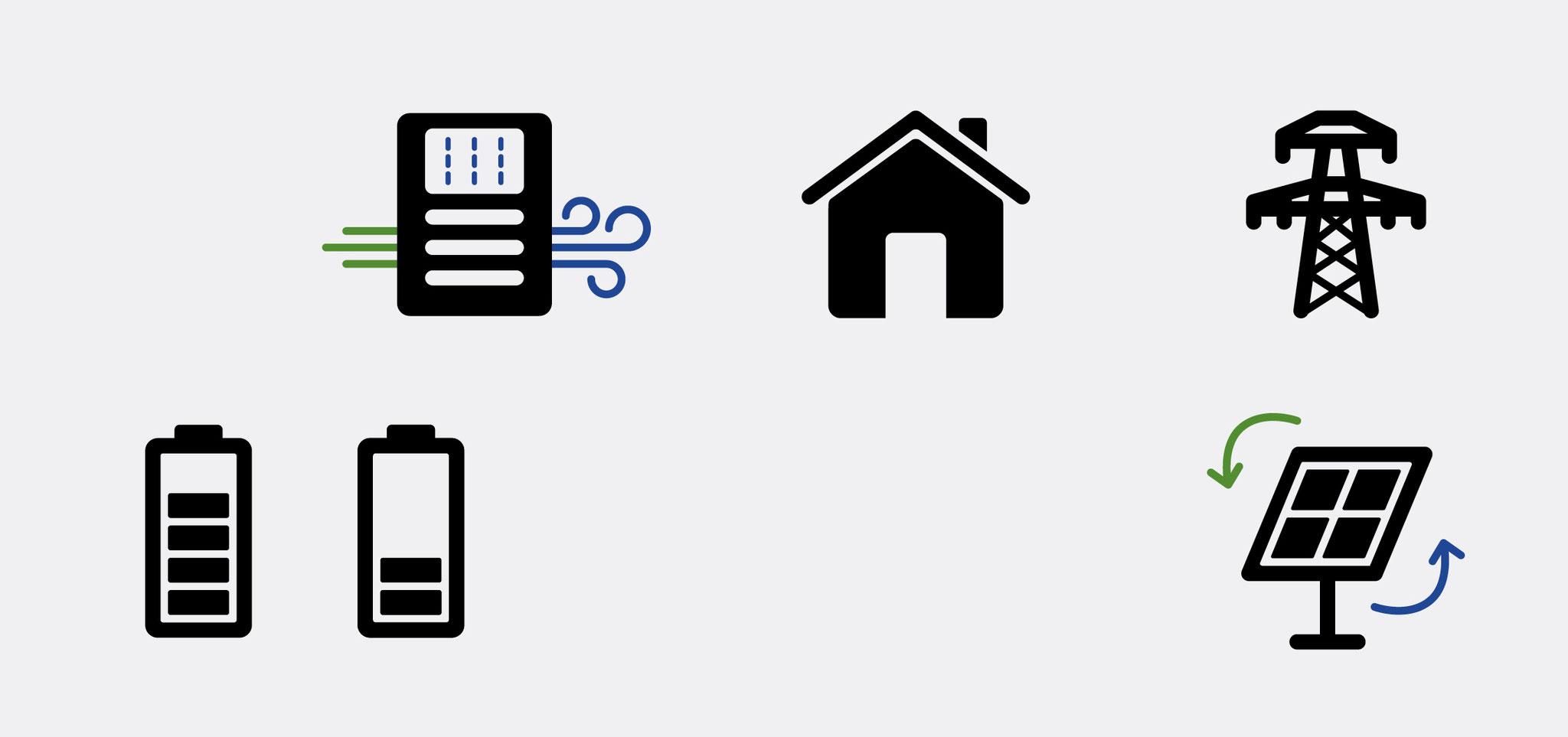 Lüftungs-Guide // Icons für eine App