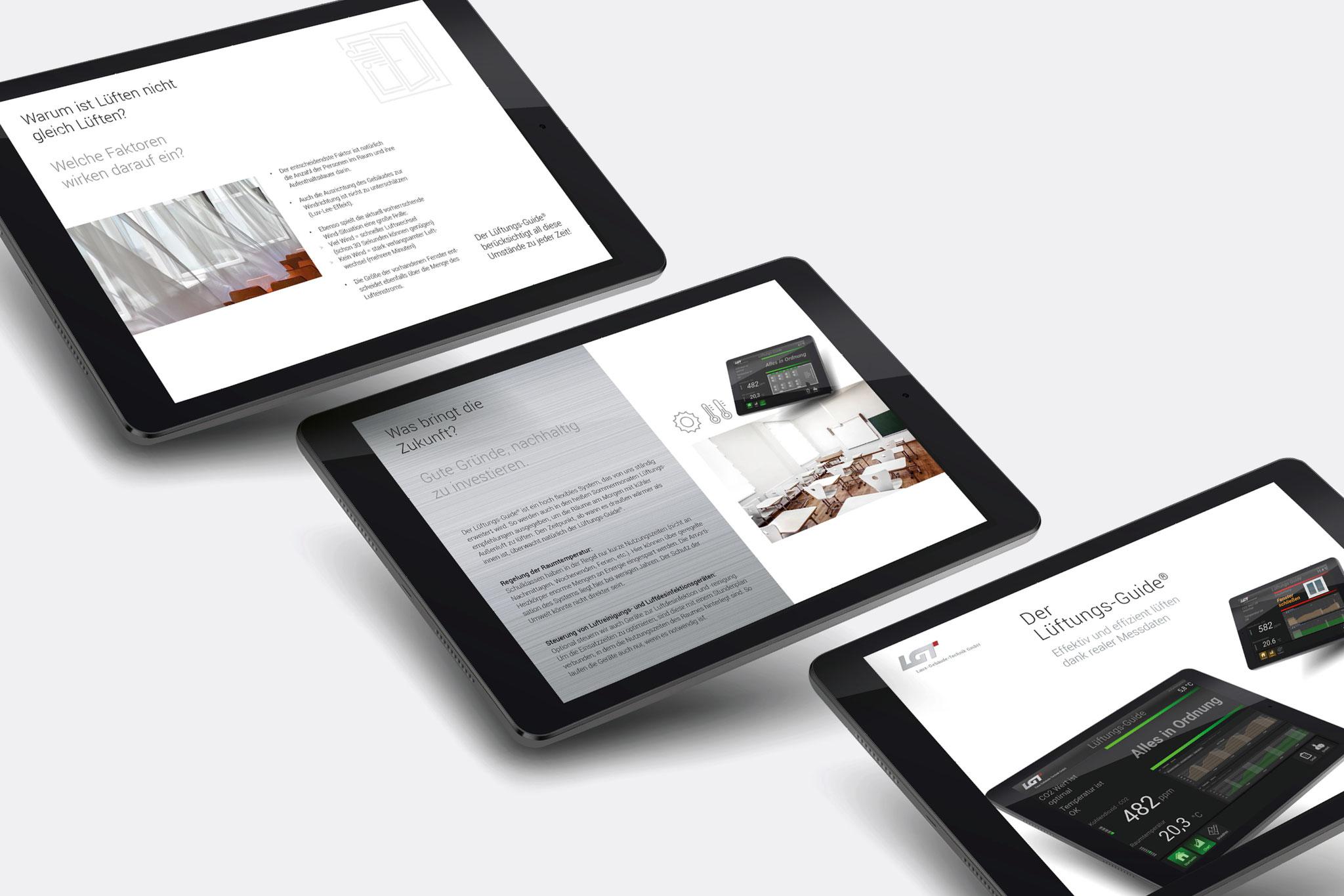 Lüftungs-Guide // Flyer-Design für eine App