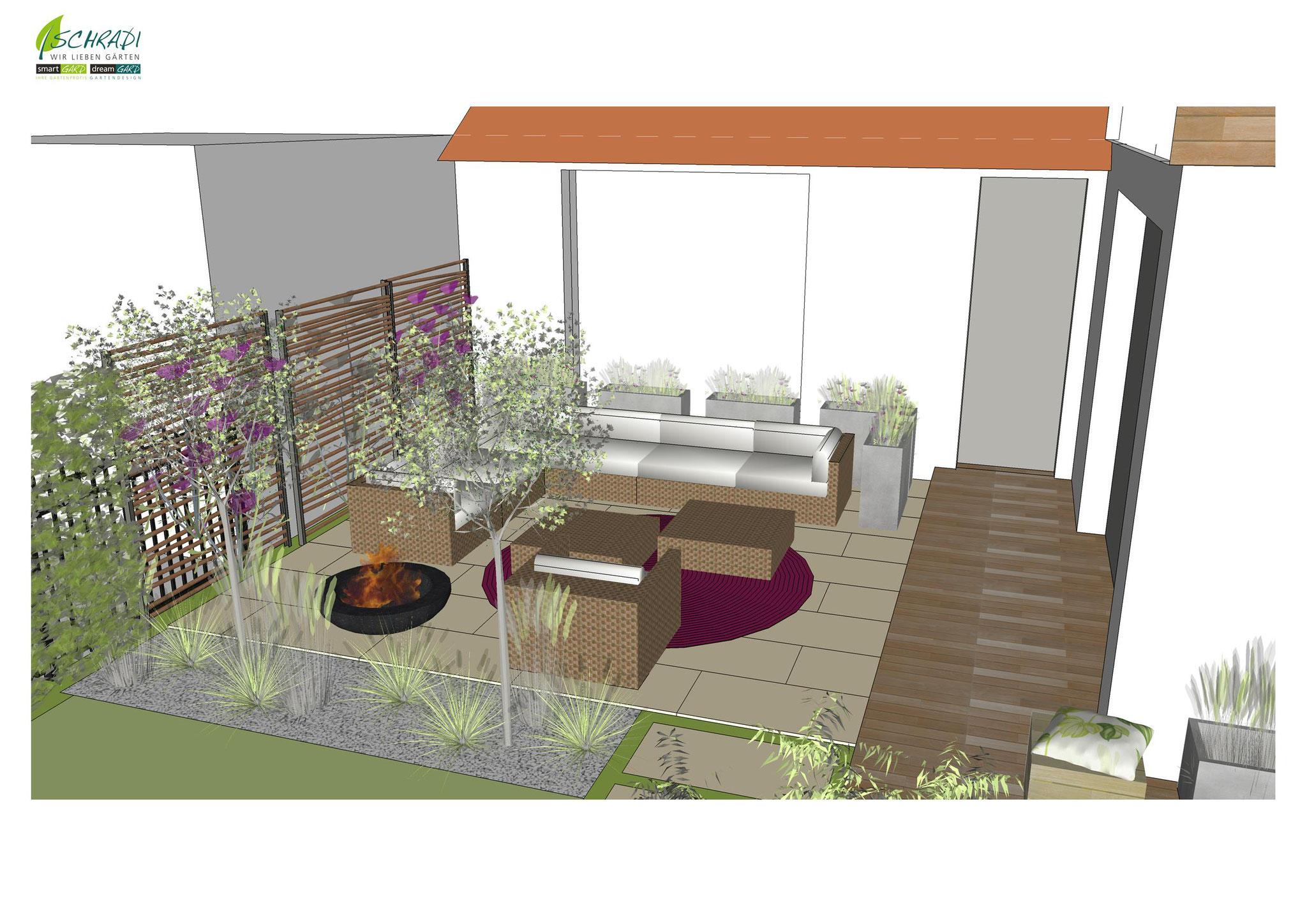 moderne Gartengestaltung Garten
