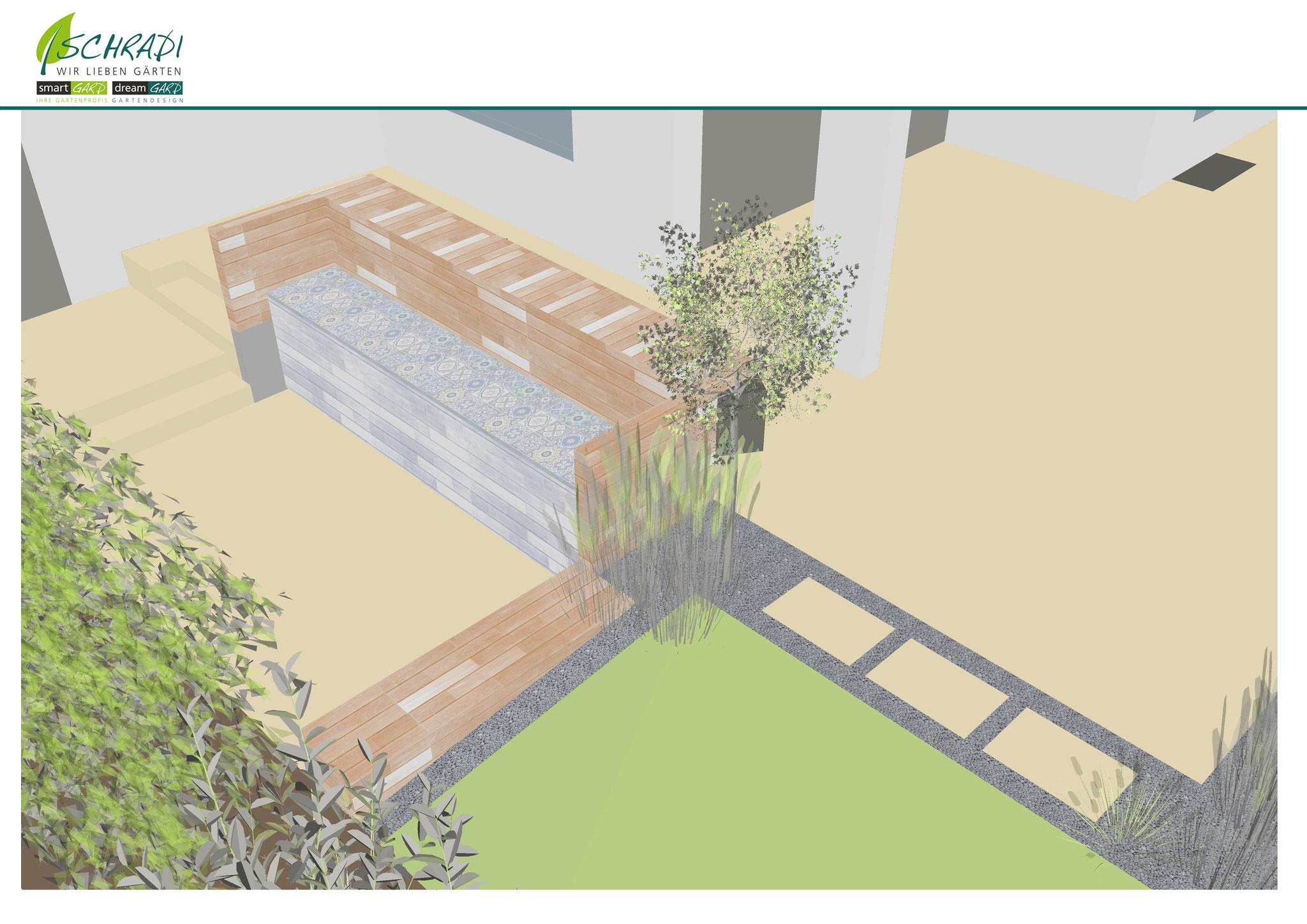 Gartengestaltung mit Naturstein und Feinsteinzeug