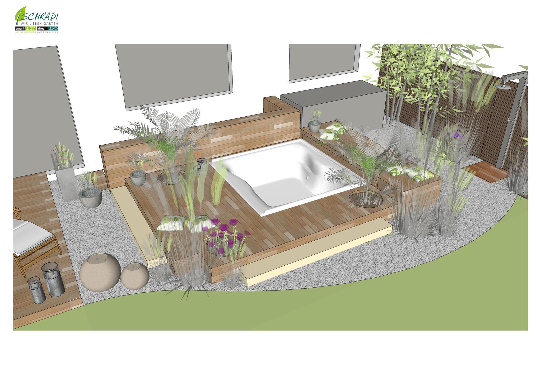 3D Visualisierung eines Gartens