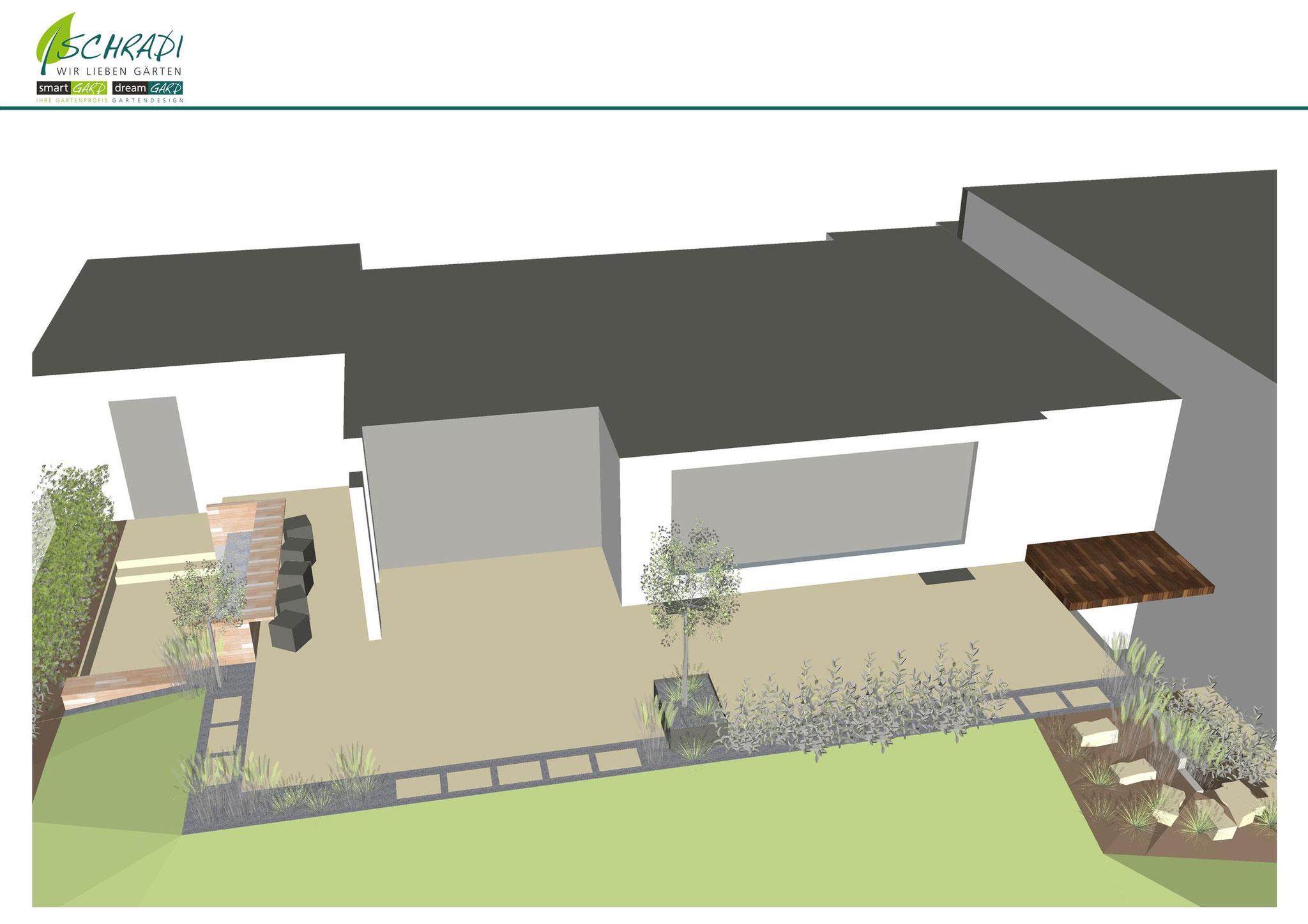 Gestaltung des Gartens in 3D