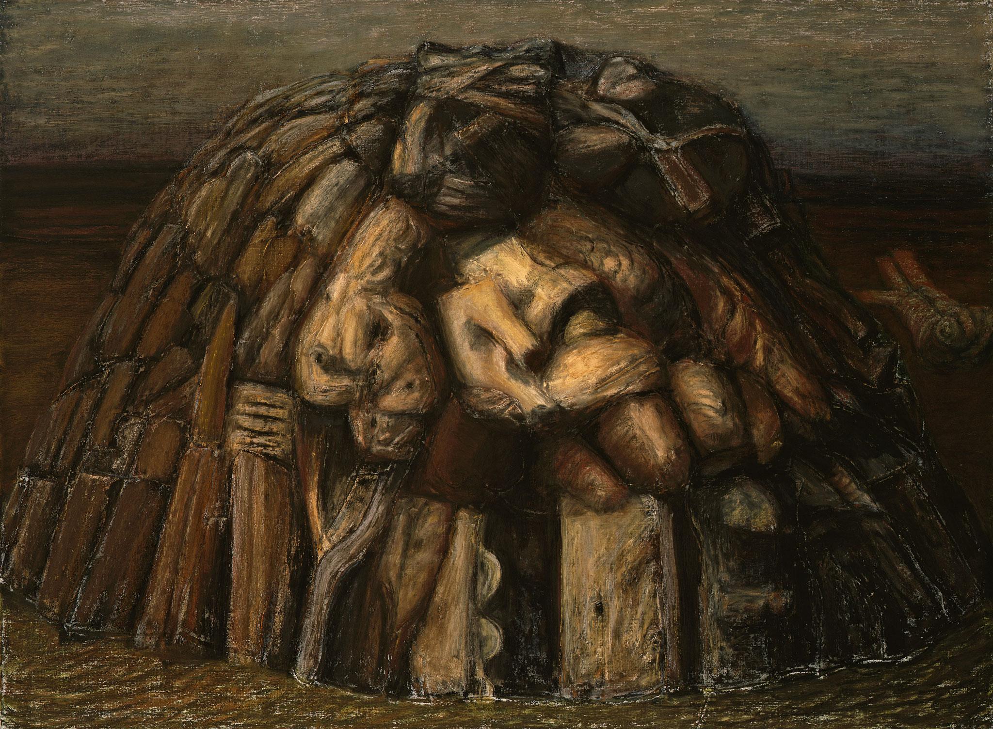 1998. 145 x 195 cm. Pastel sur lès de toile marouflé sur toile.