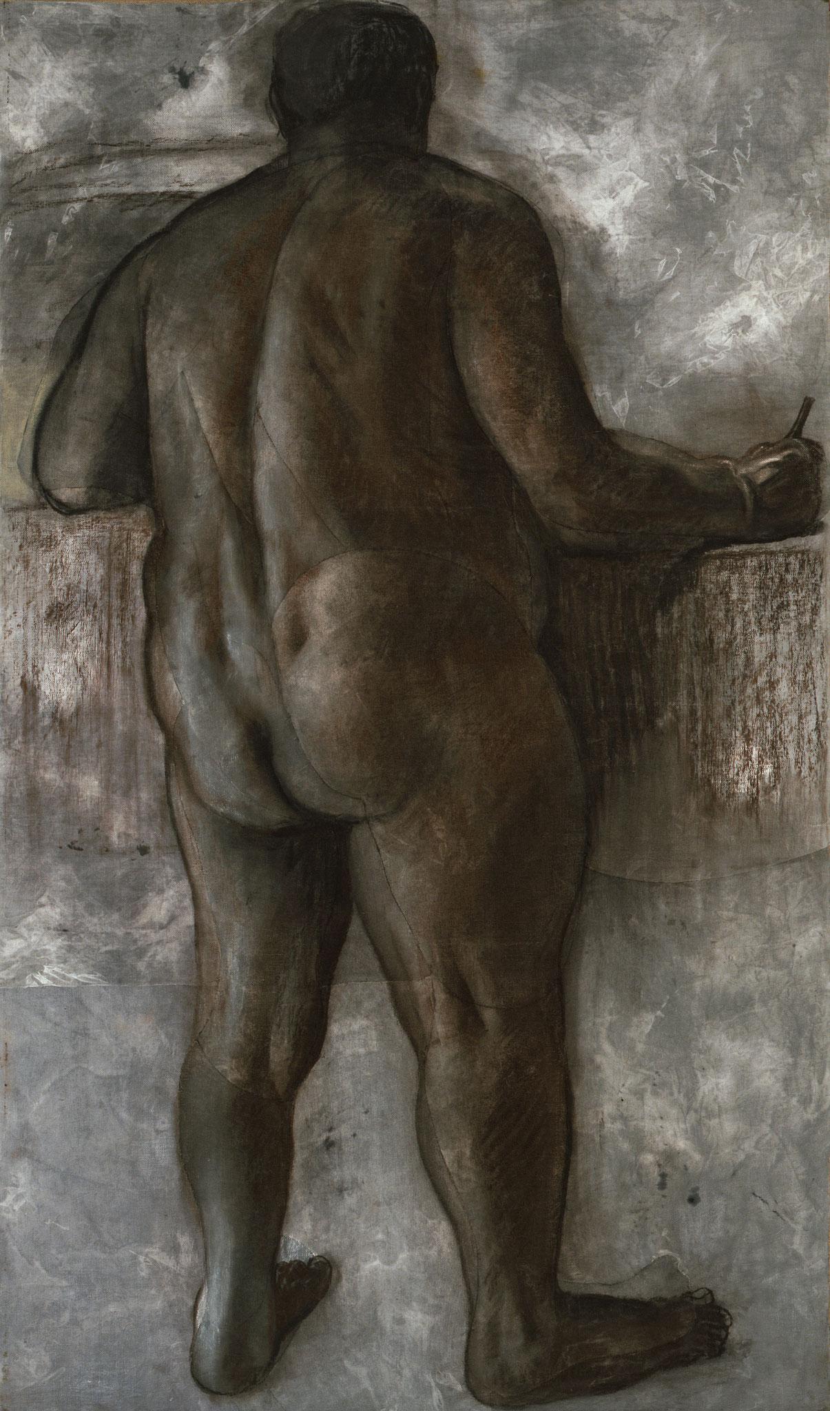 2000. 189 x 111 cm. Fusain et pastel sur lès de toile marouflés sur toile.