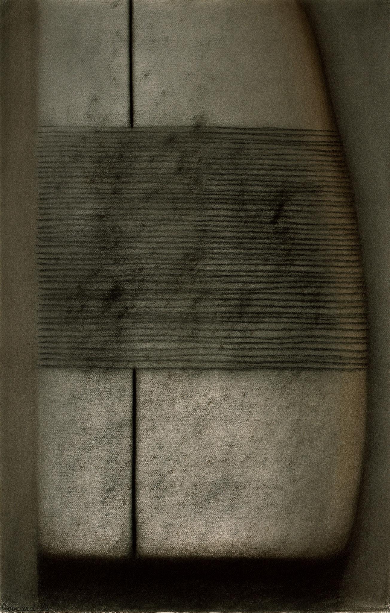 1982. 100 x 65 cm. Fusain sur papier