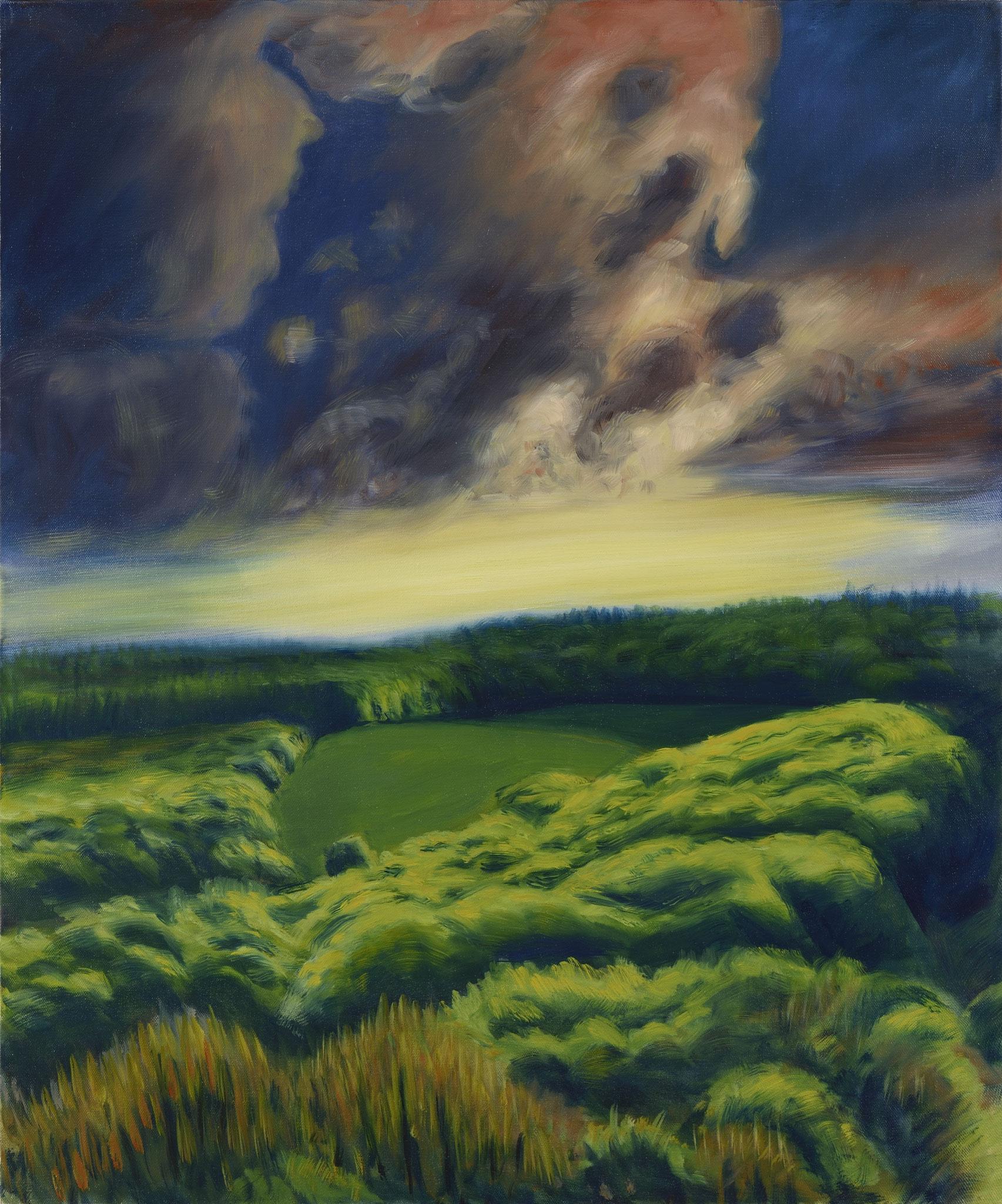 2011 - 2013. Série Clairières printemps. Peinture à l'huile sur toile.