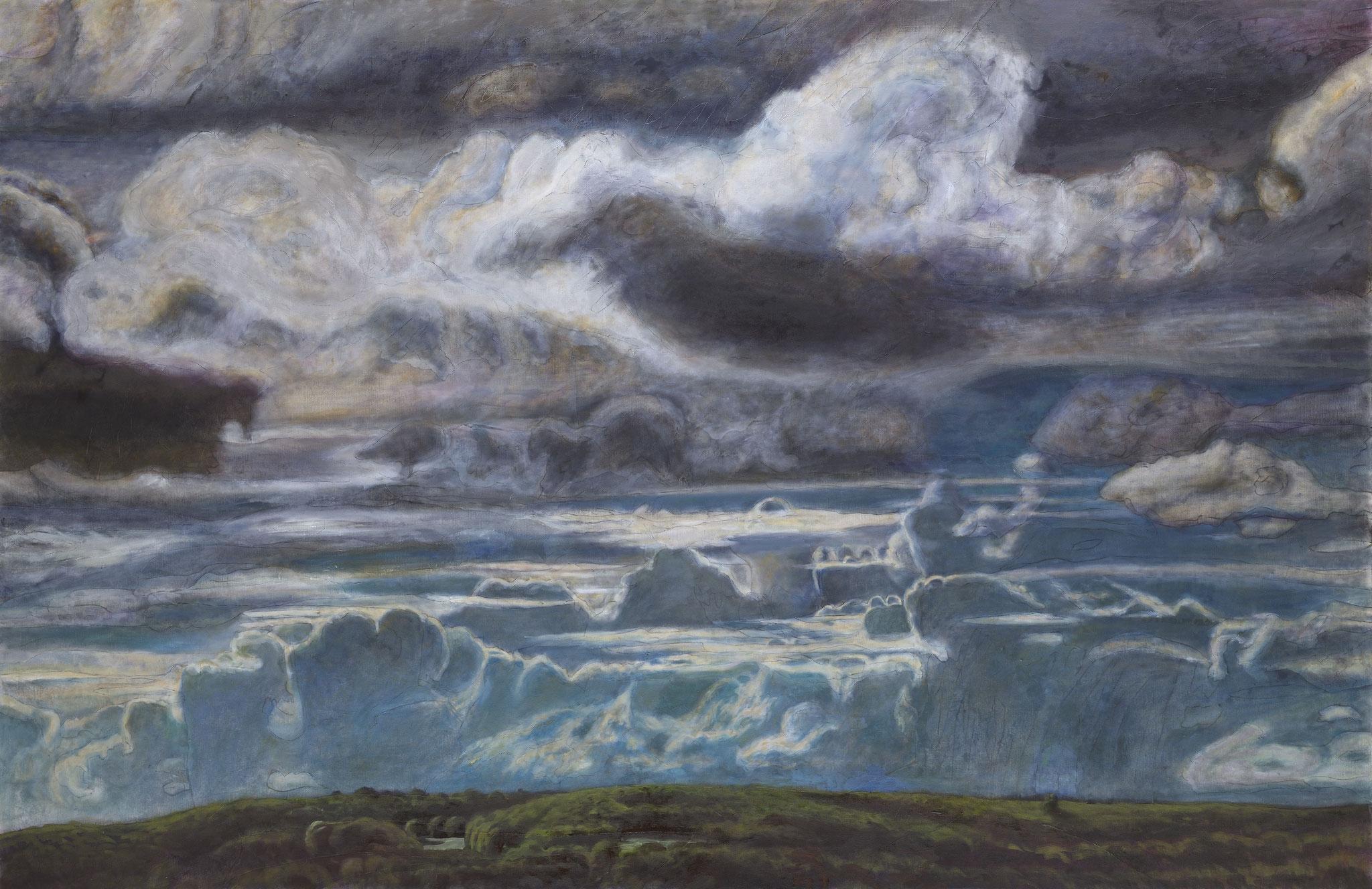 2013. Ciel. 200 x 306 cm. Peinture à l'huile sur toile.