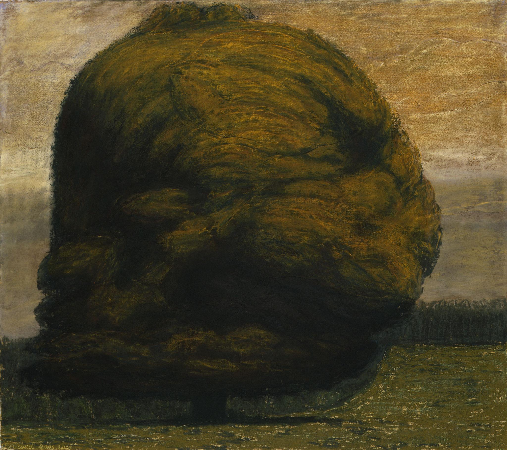 2004 - 2005. 97 x 106 cm. Pastel sur lès de toile marouflés sur toile.
