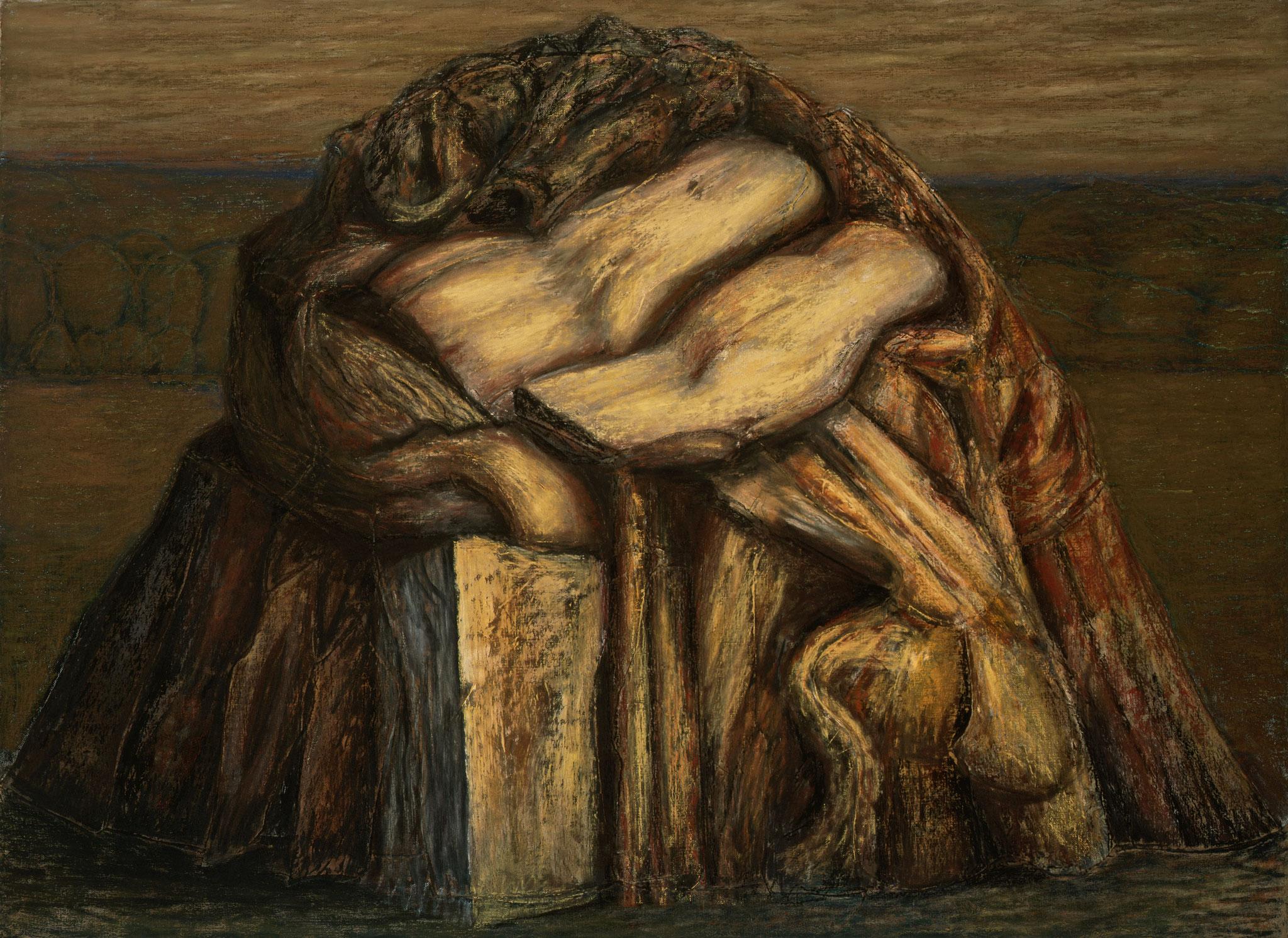 1997. 145 x 195 cm. Pastel sur lès de toile marouflé sur toile.