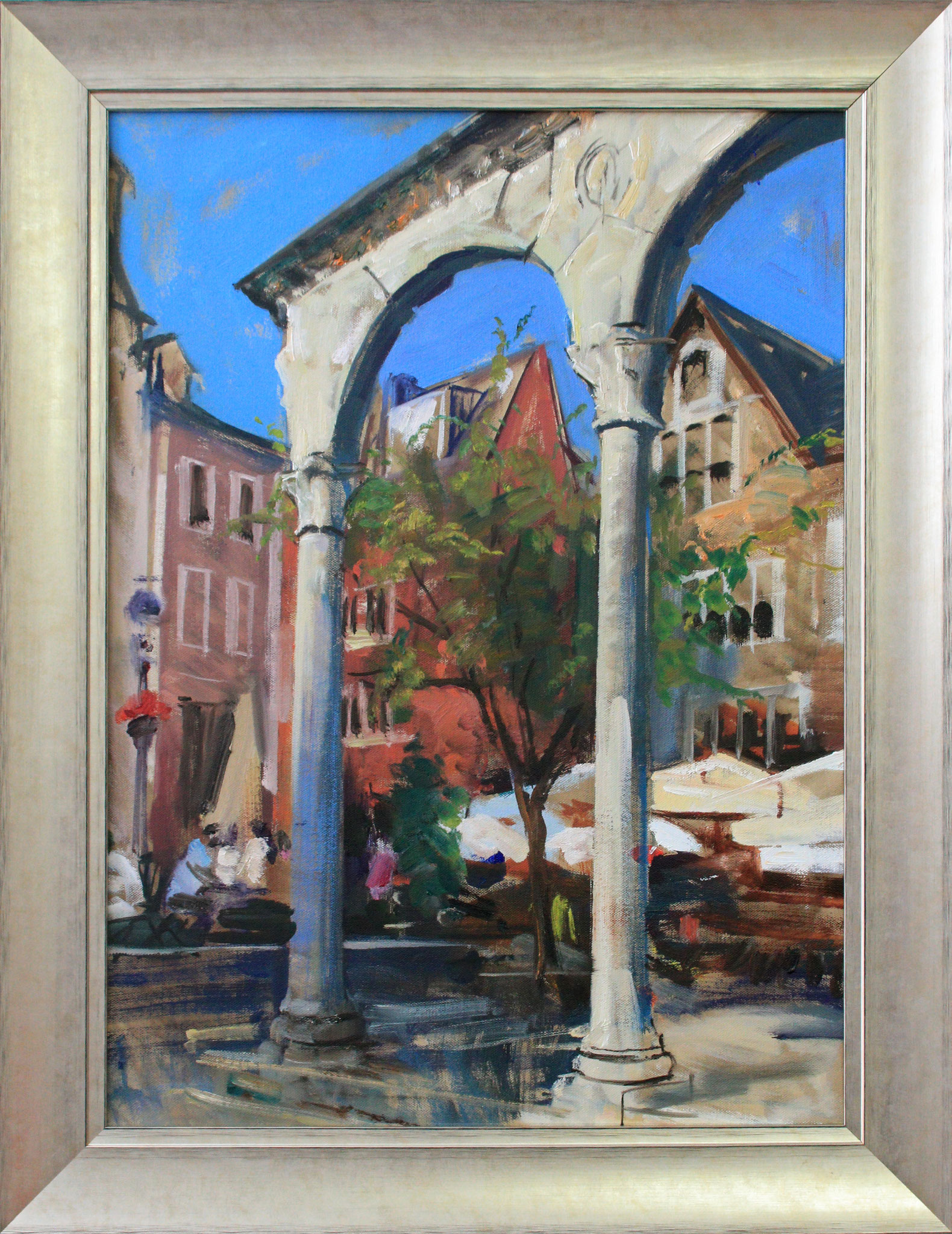 """Aachen - Hof"", 50 cm x 70 cm"
