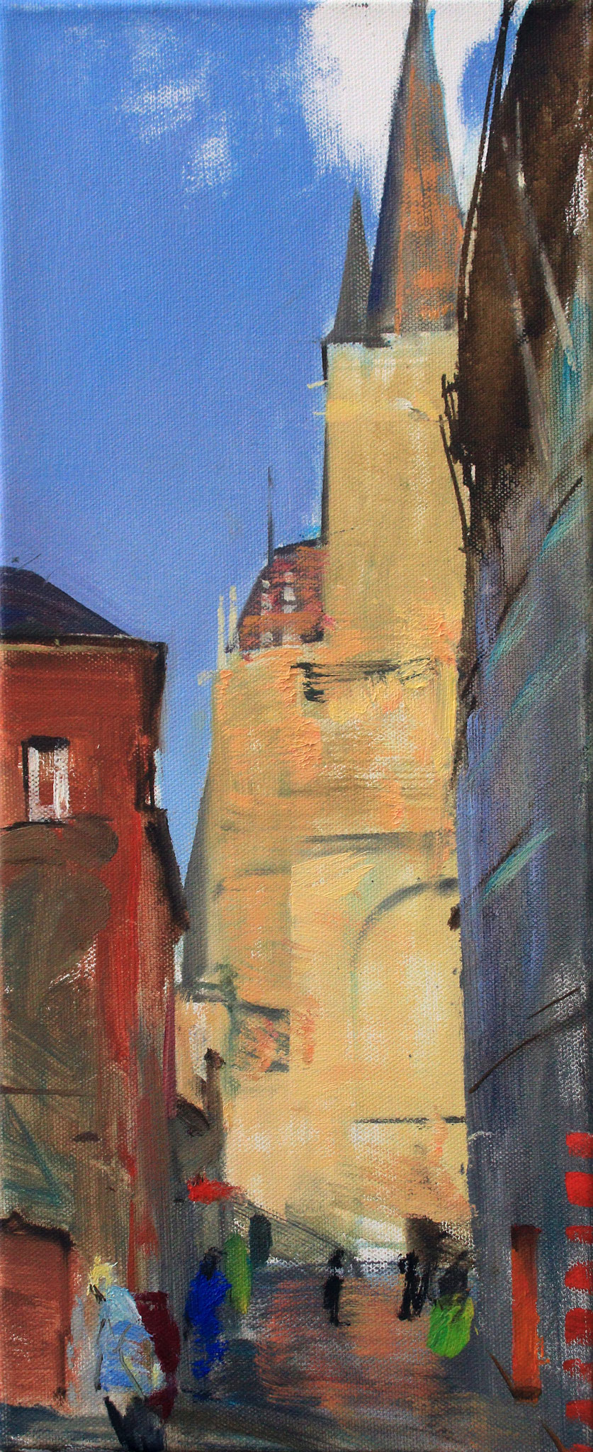 """Aachen - Dom"", 20 cm x 50 cm"