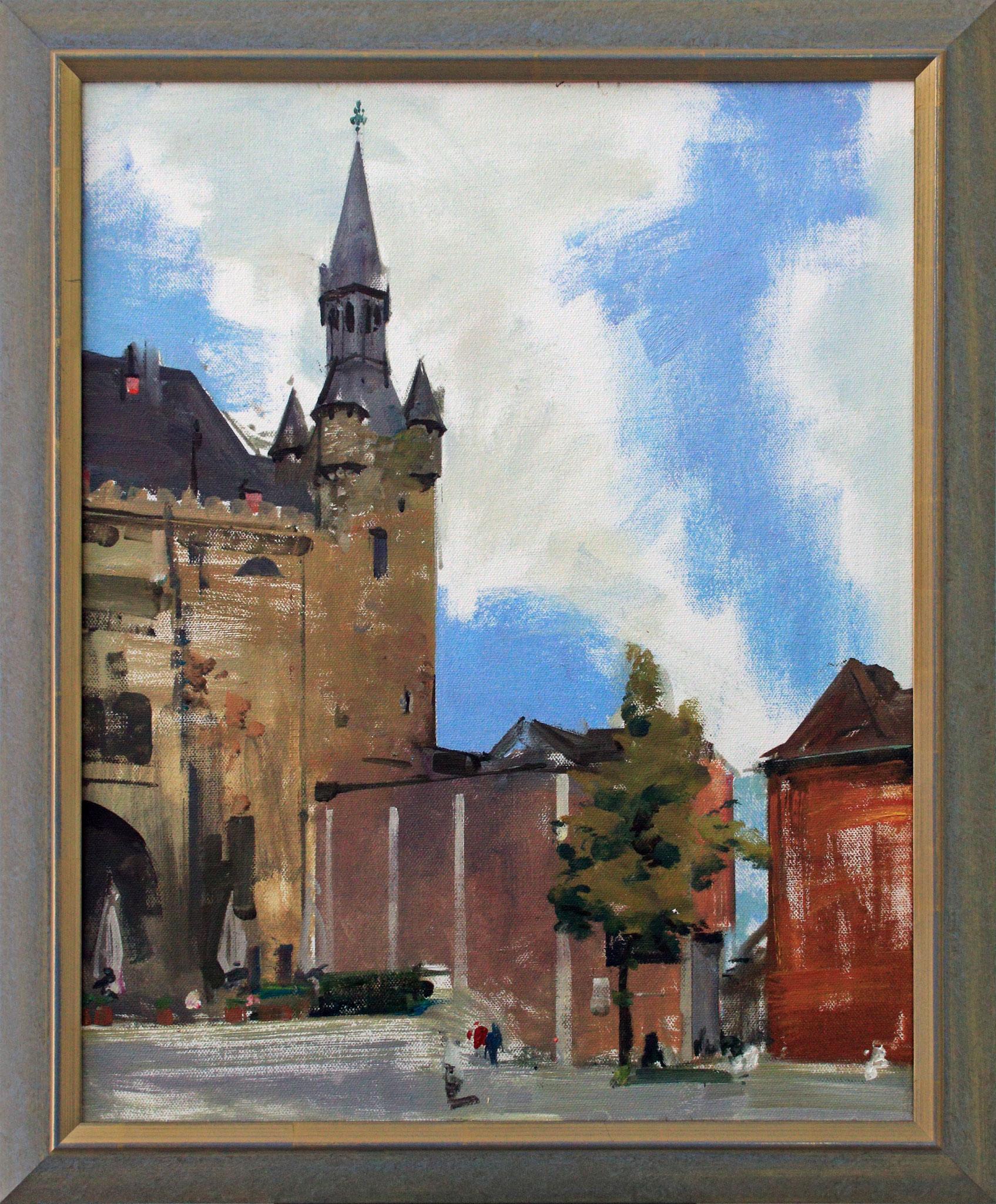 """""""Aachen - Rathaus"""", 40 cm x 50 cm"""