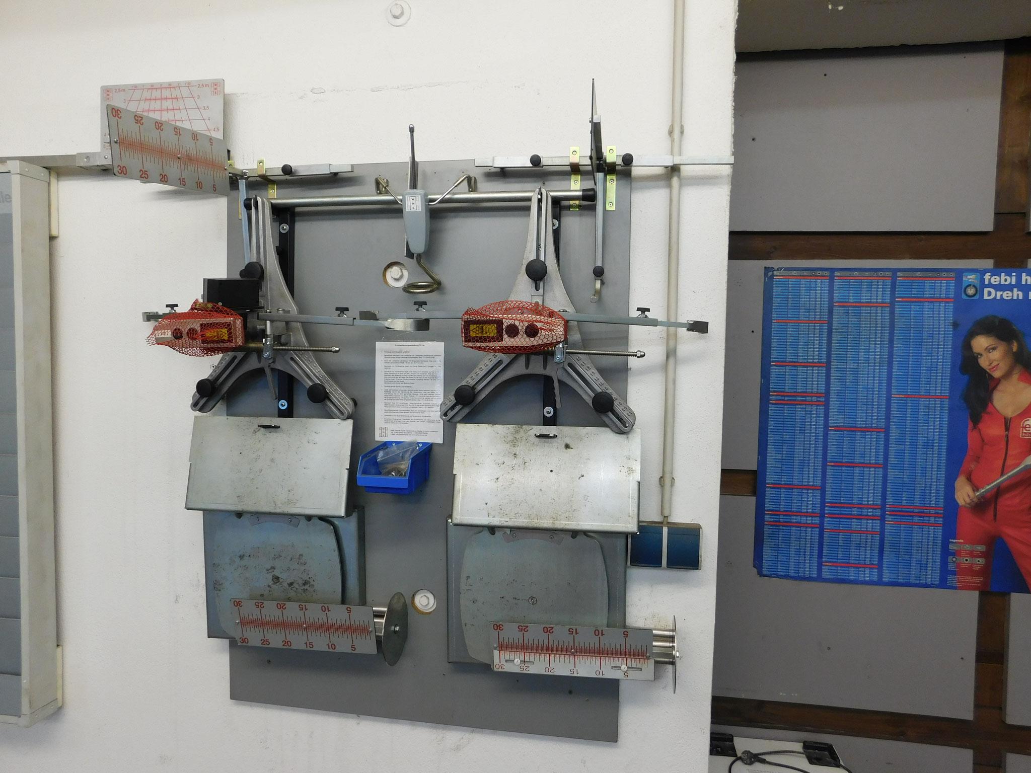 Laser-Achsmessgerät
