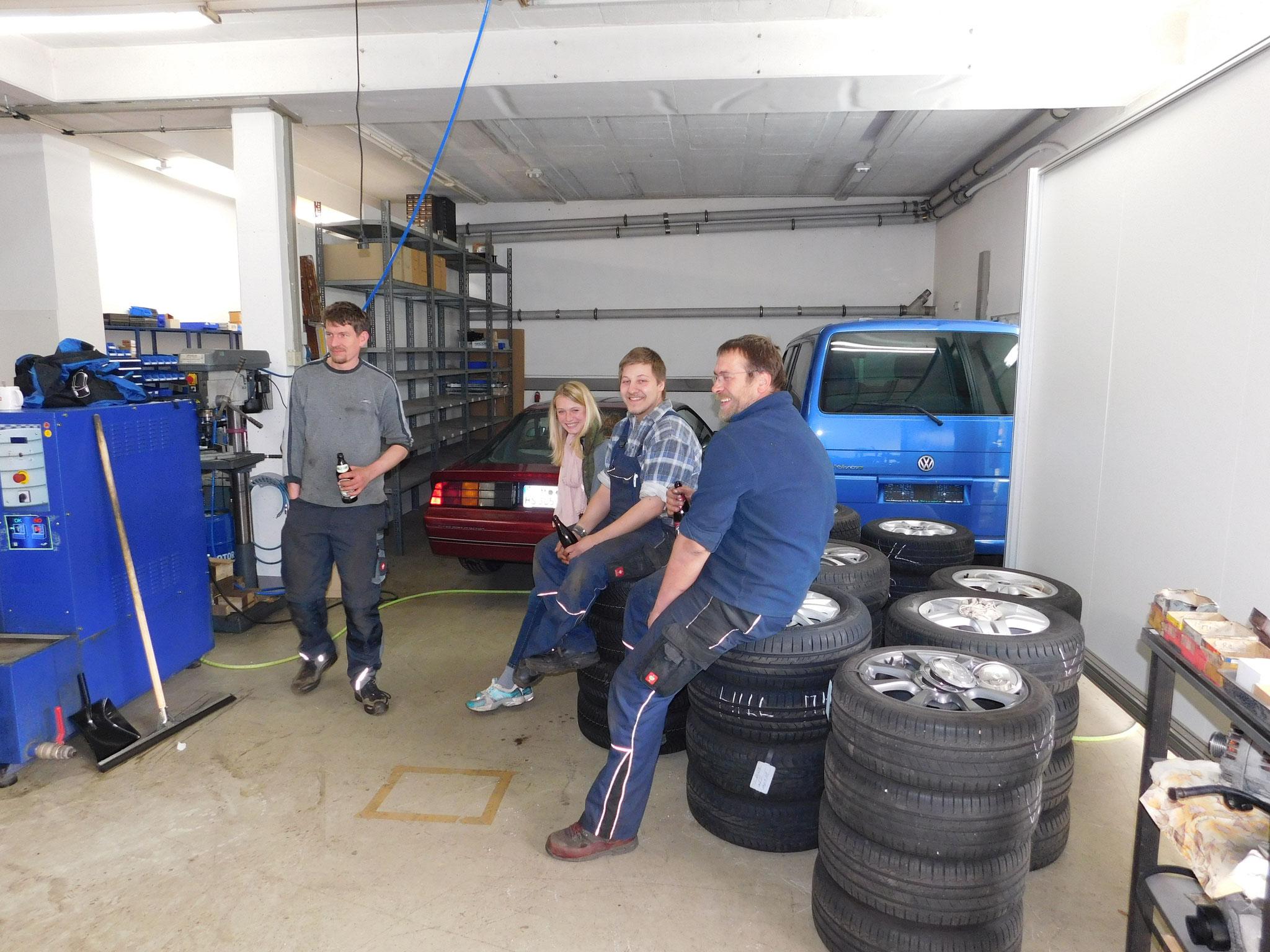 Reifenwechseltag - endlich Pause